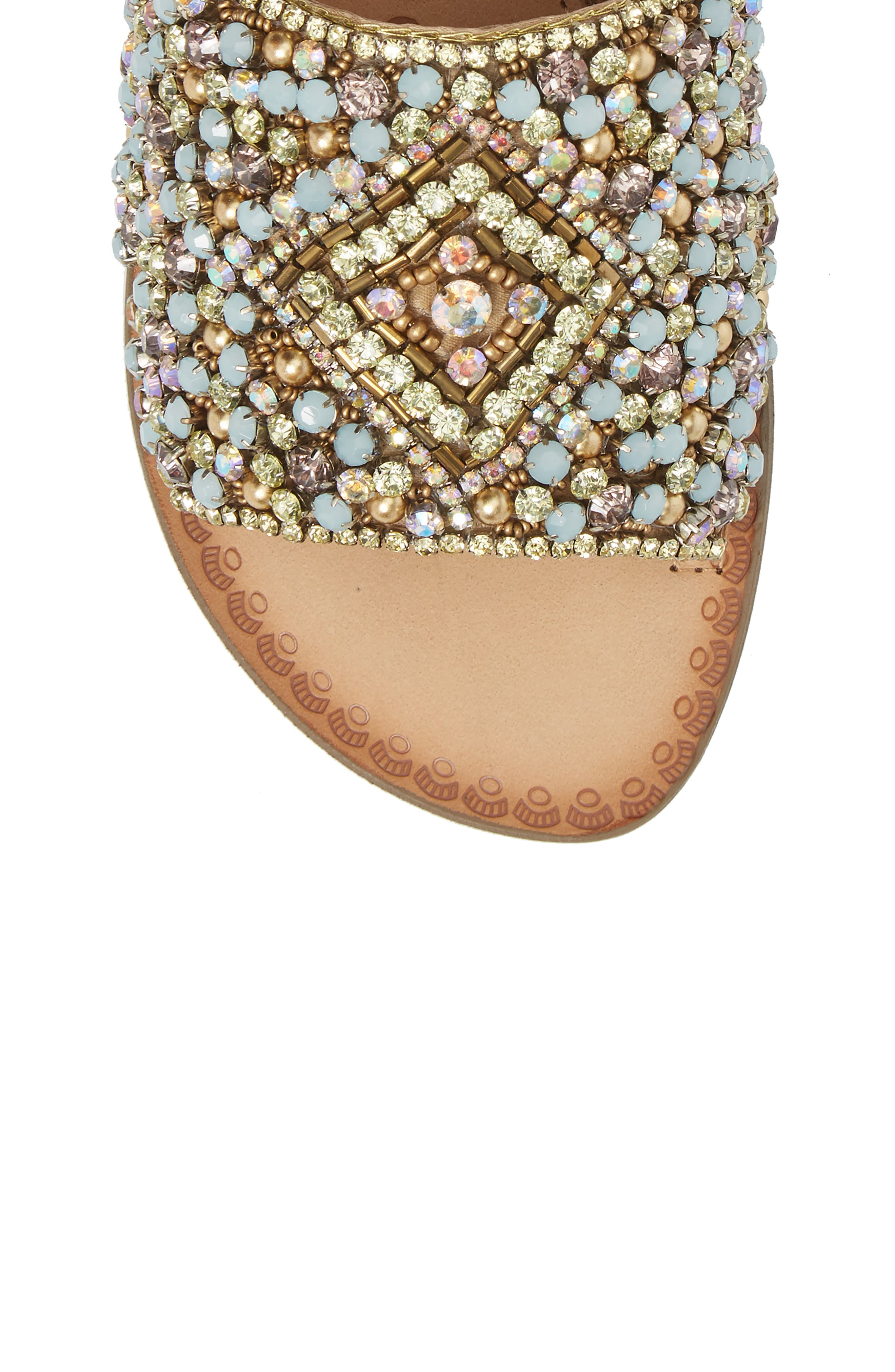 Susanna Embellished Slide Sandal,                             Alternate thumbnail 5, color,                             Multi Leather
