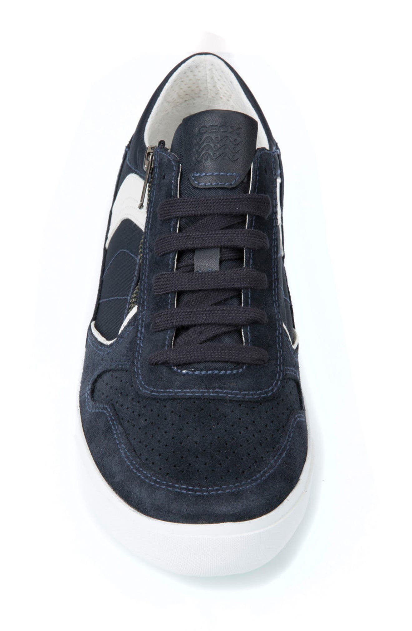 Box 33 Low Top Zip Sneaker,                             Alternate thumbnail 4, color,                             Navy