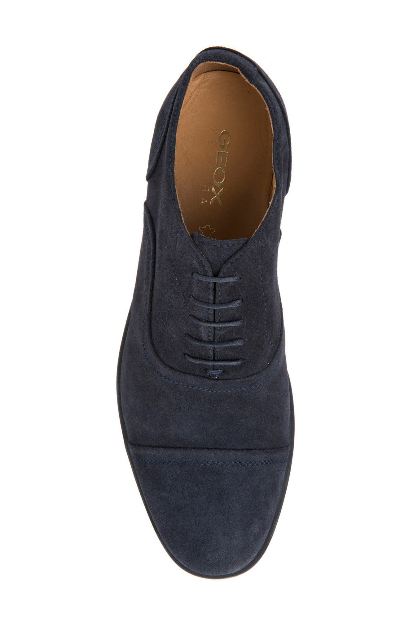 Bryceton 2 Cap Toe Oxford,                             Alternate thumbnail 5, color,                             Navy Suede