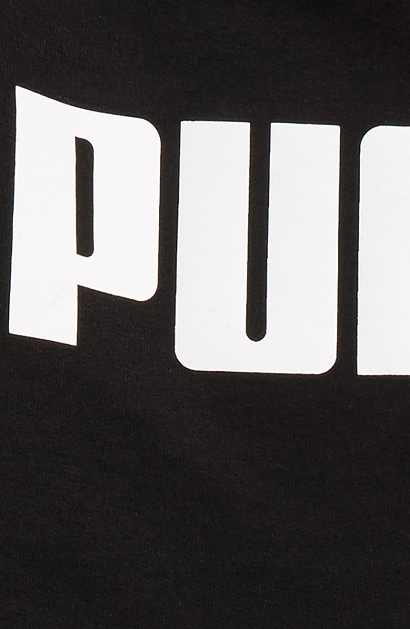 Alternate Image 2  - PUMA Rebel Logo Sweatshirt & Sweatpants Set (Toddler Boys & Little Boys)