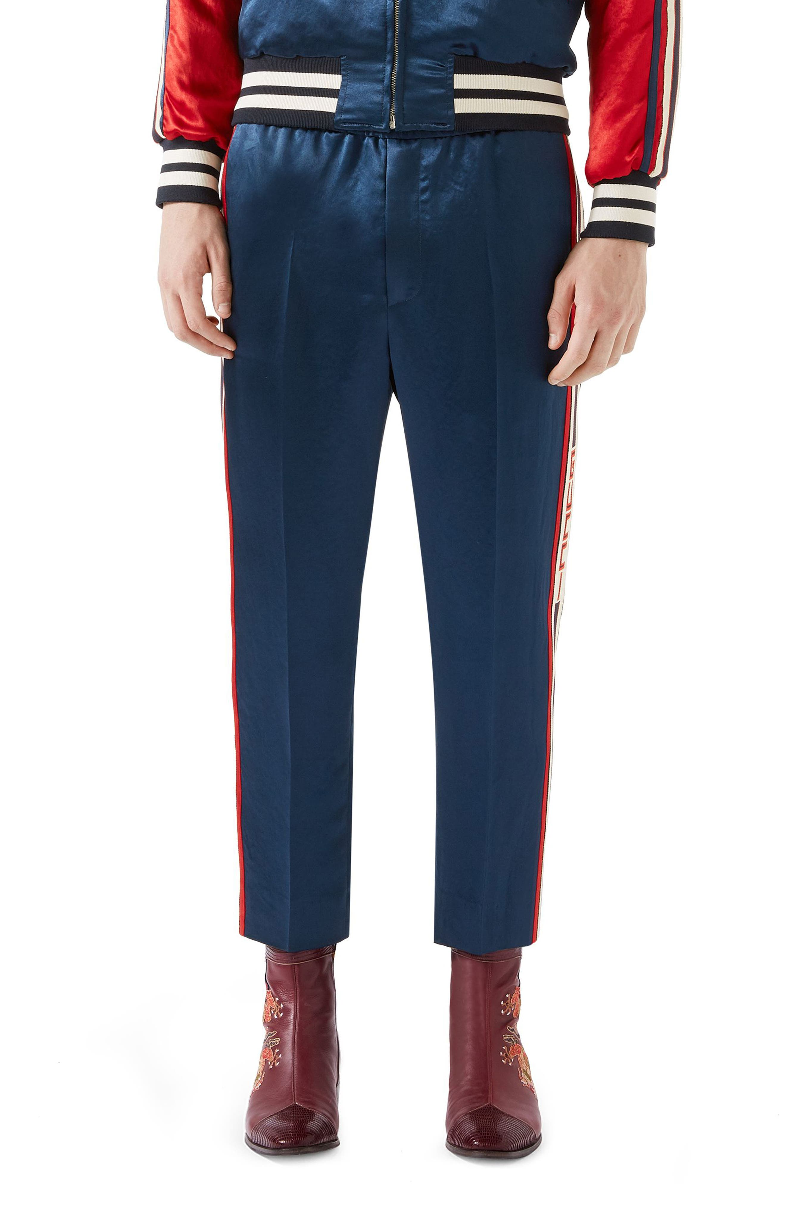Track Pants,                         Main,                         color, Navy