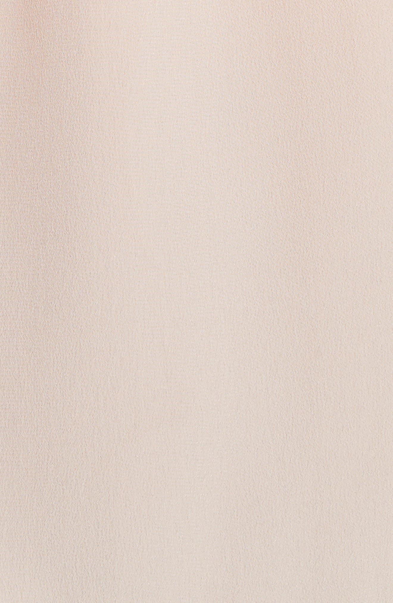 'Slim Signature' Silk Shirt,                             Alternate thumbnail 5, color,                             French Nude