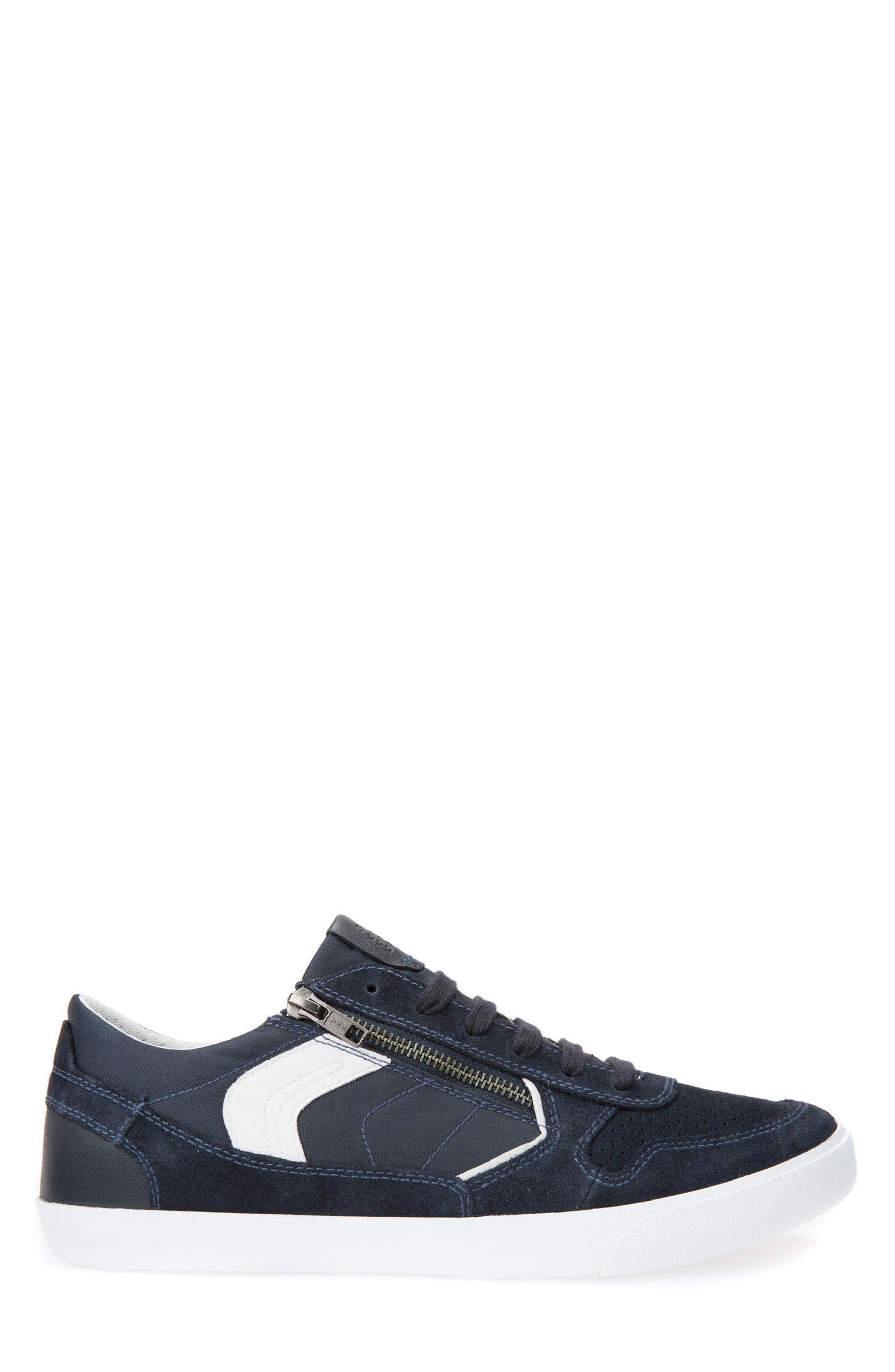 Box 33 Low Top Zip Sneaker,                             Alternate thumbnail 3, color,                             Navy