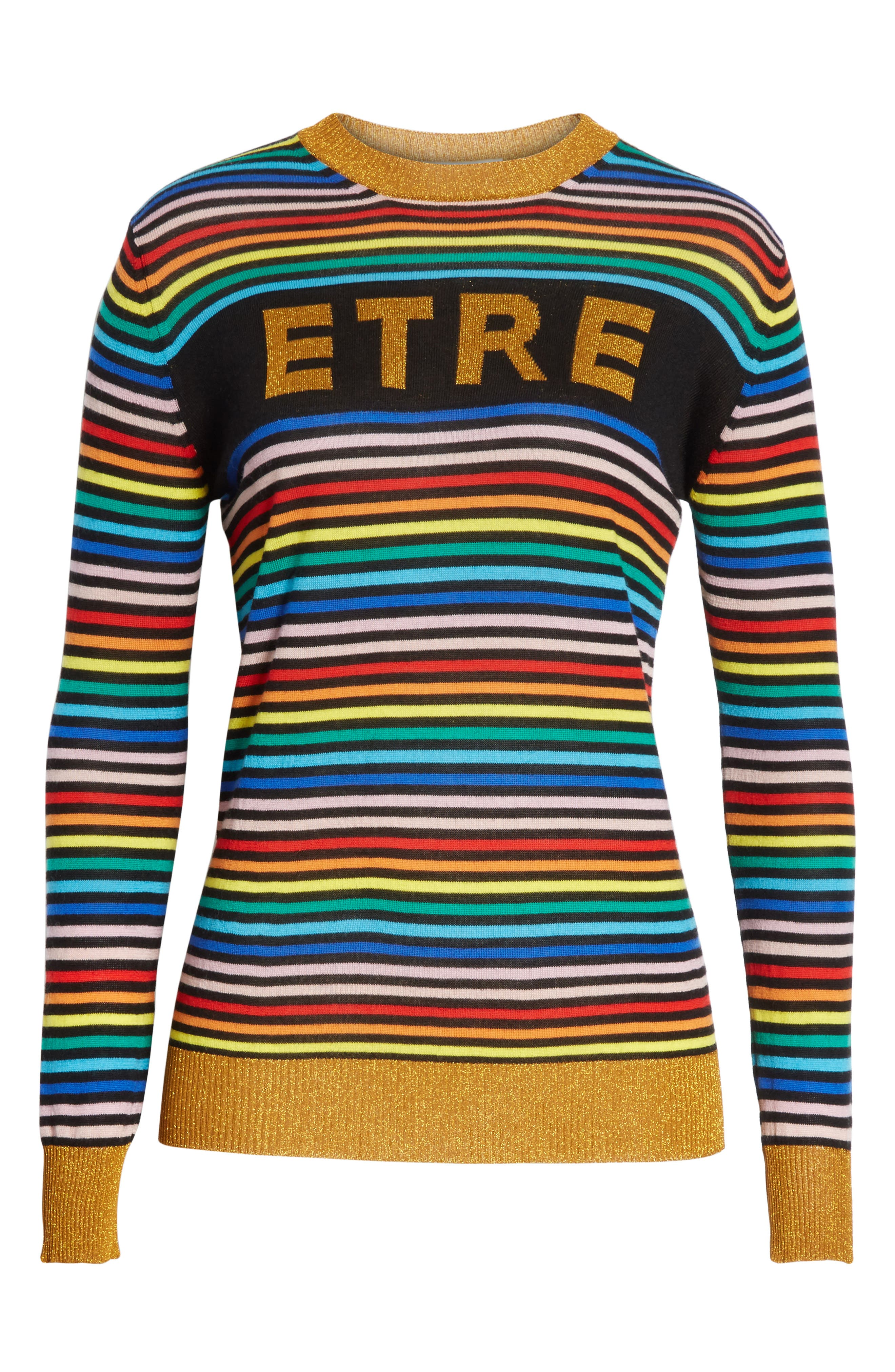 Alternate Image 6  - être cécile Stripe Knit Boyfriend Sweater