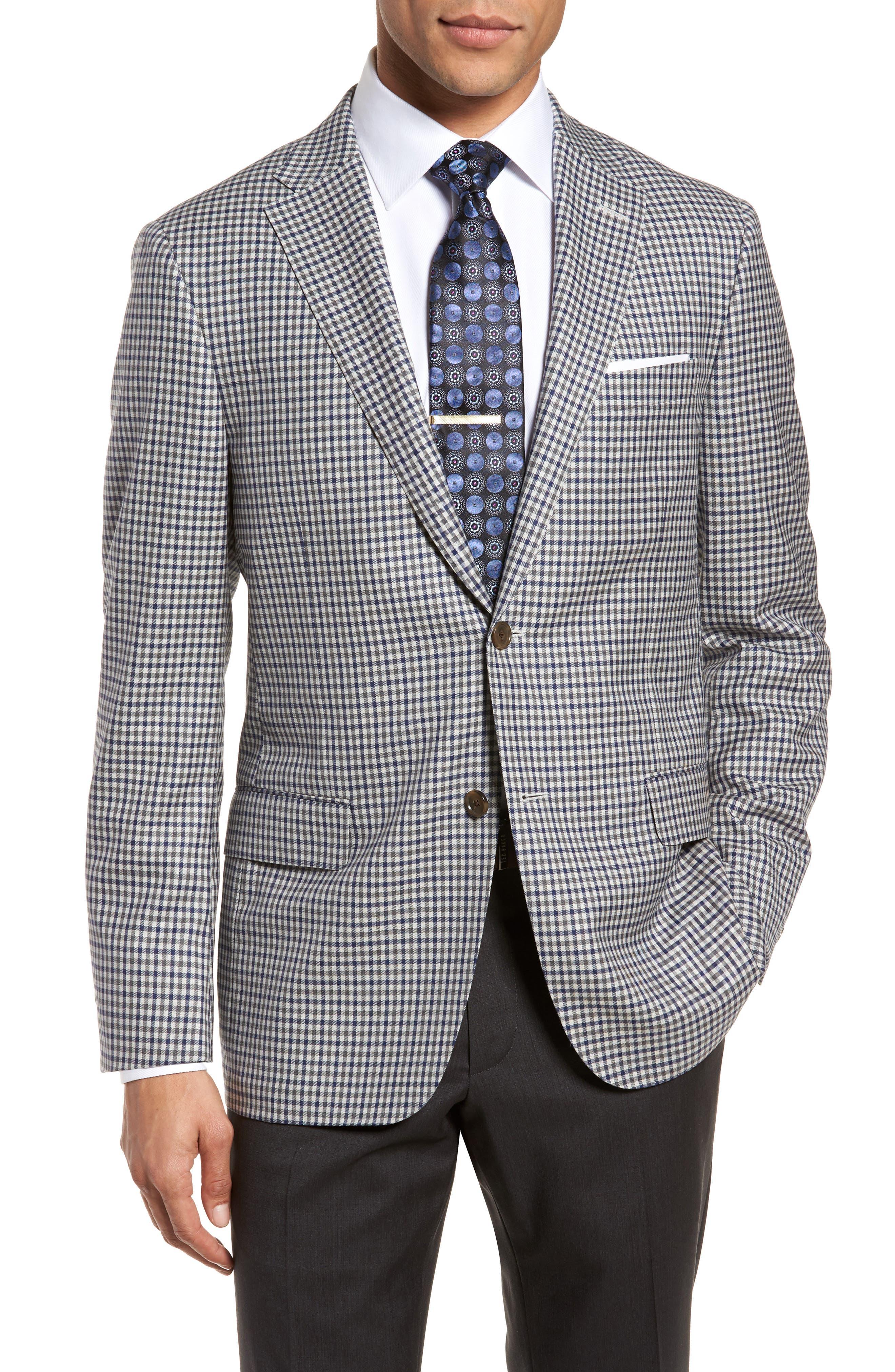 Hickey Freeman Classic B Fit Check Wool Sport Coat