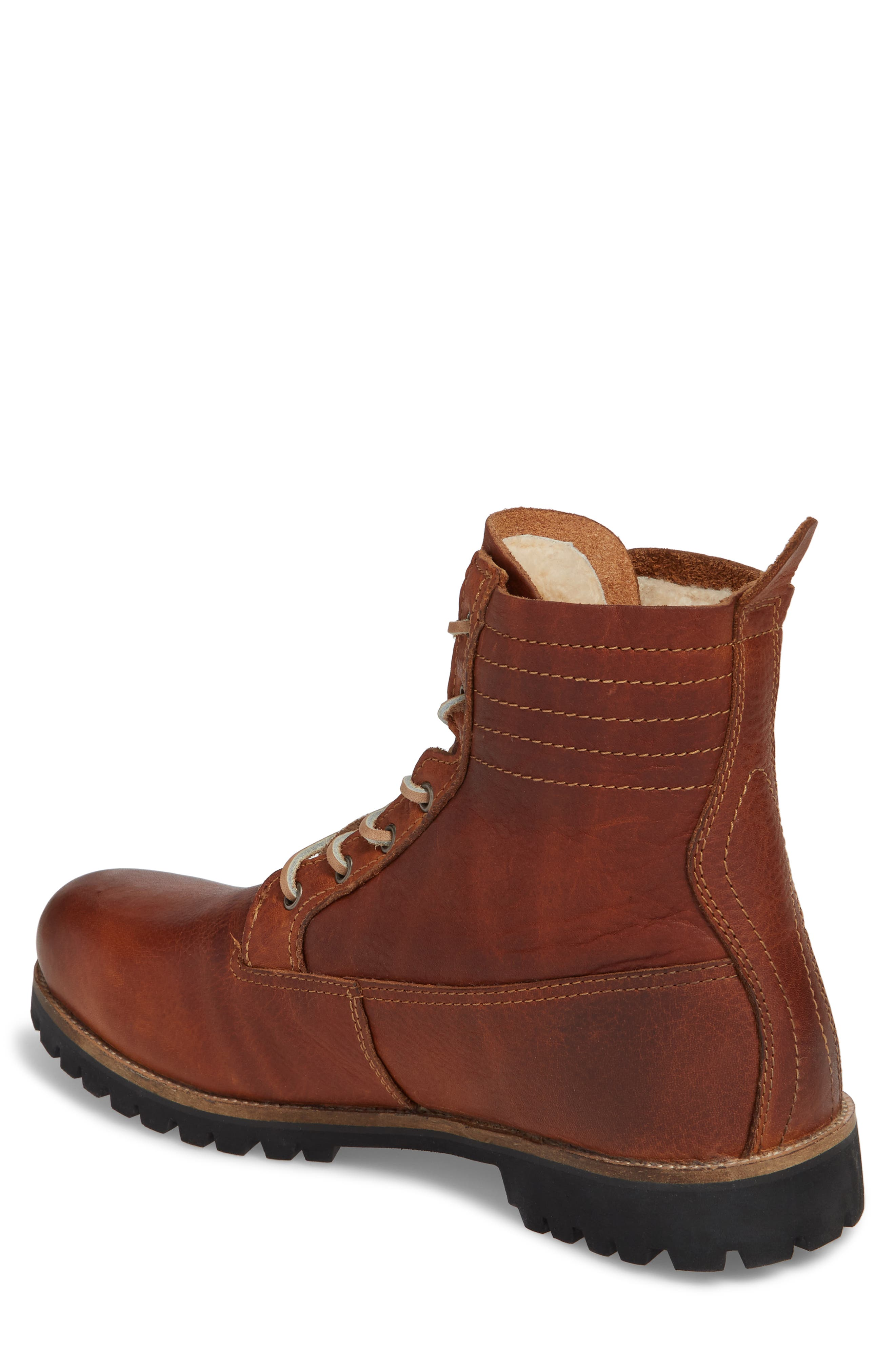 IM 12 Plain Toe Boot with Genuine Shearling,                             Alternate thumbnail 2, color,                             Cuoio Leather