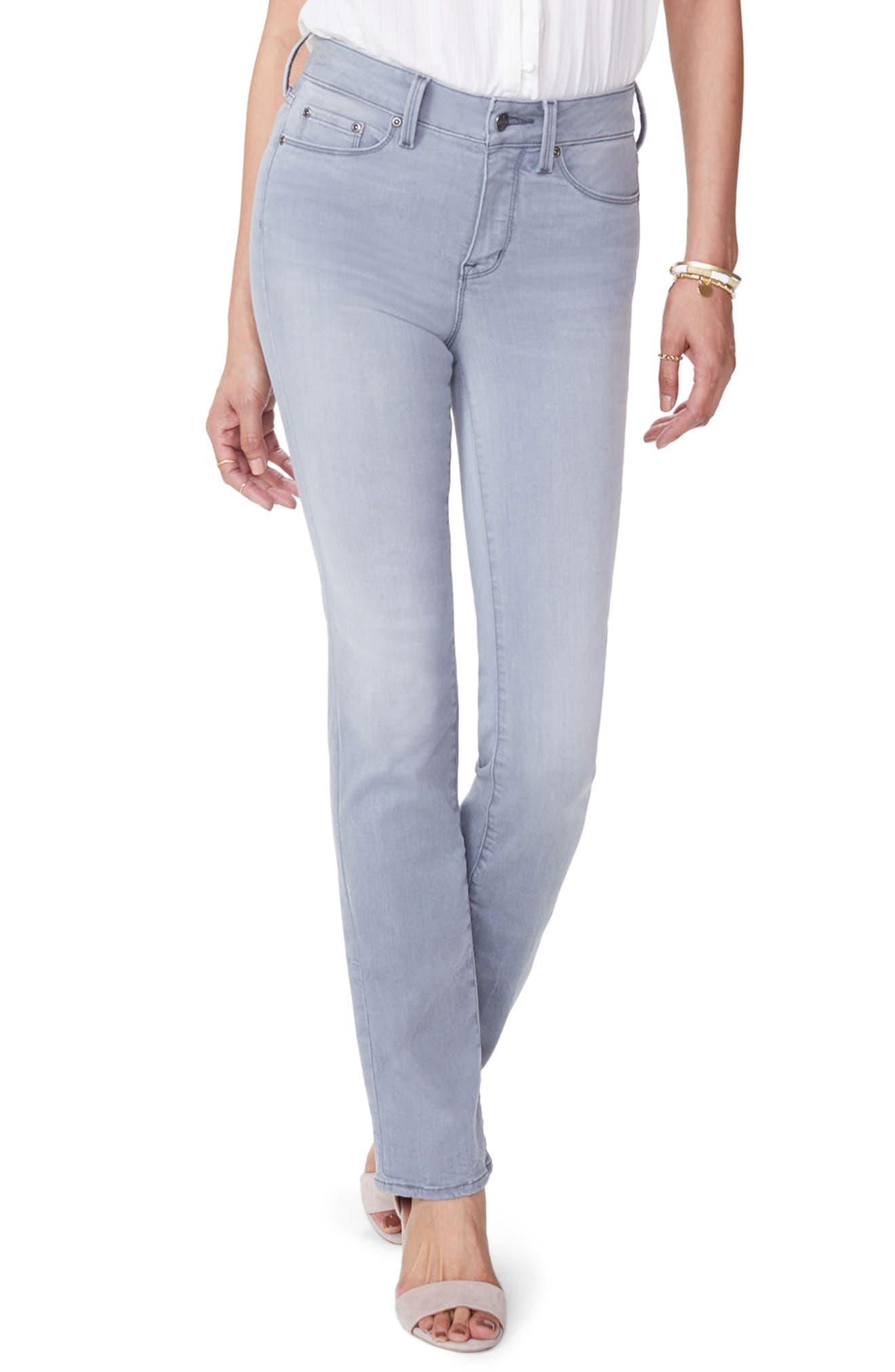 Marilyn Stretch Straight Leg Jeans,                         Main,                         color, Carbon Beach