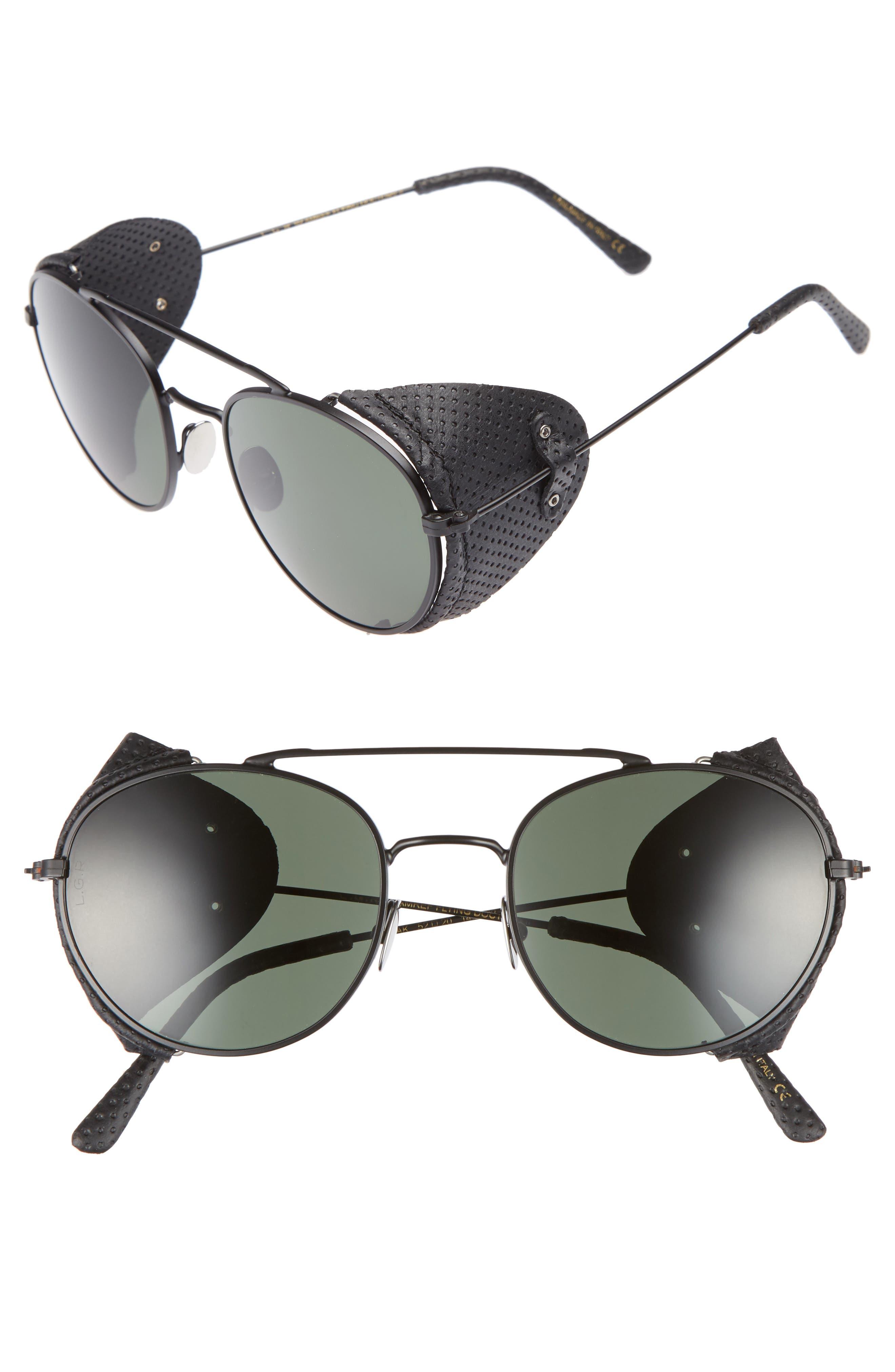 Amref 52mm Sunglasses,                         Main,                         color, Black Matte