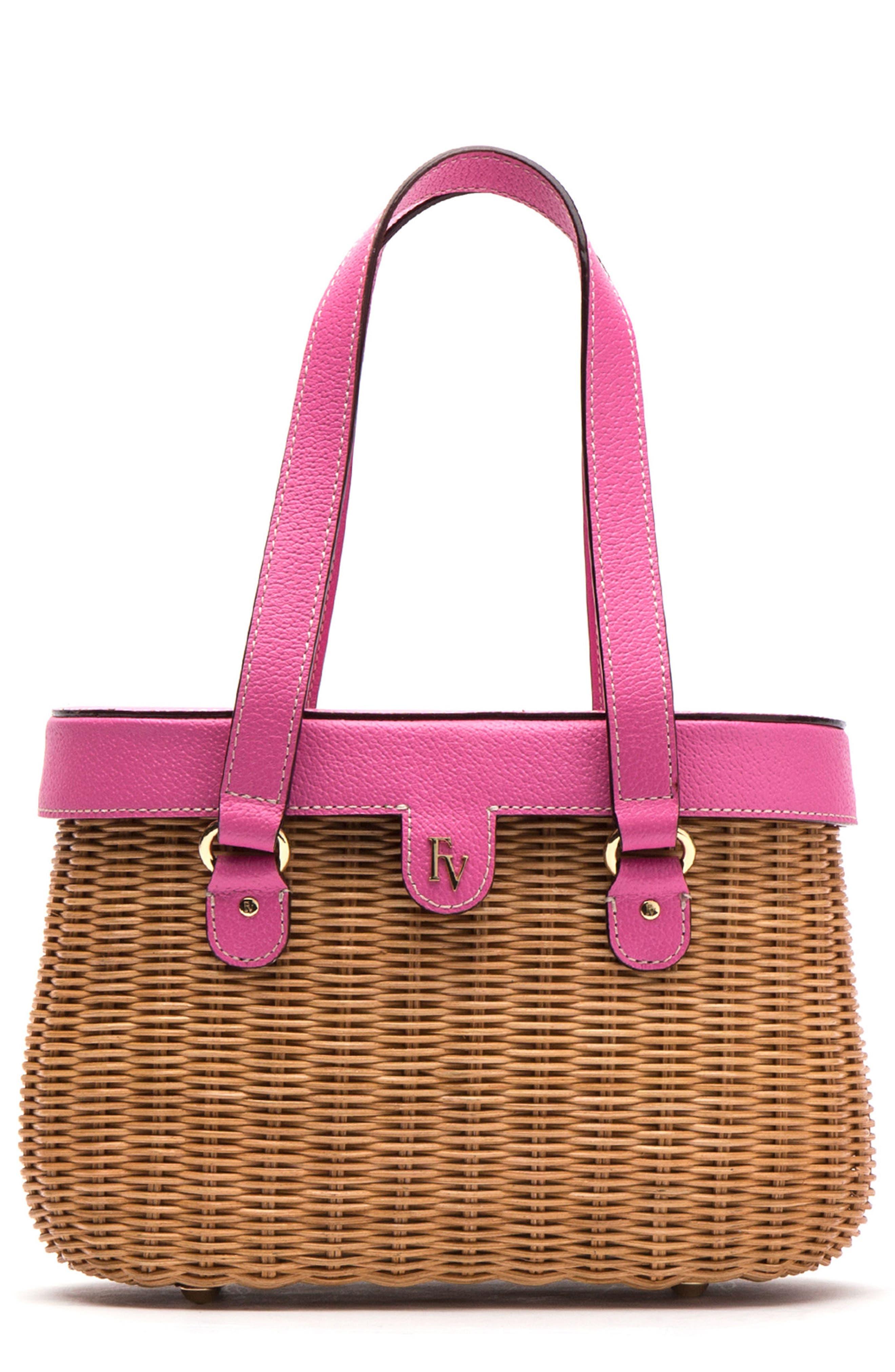 Alternate Image 1 Selected - Frances Valentine Wicker Basket Shoulder Bag
