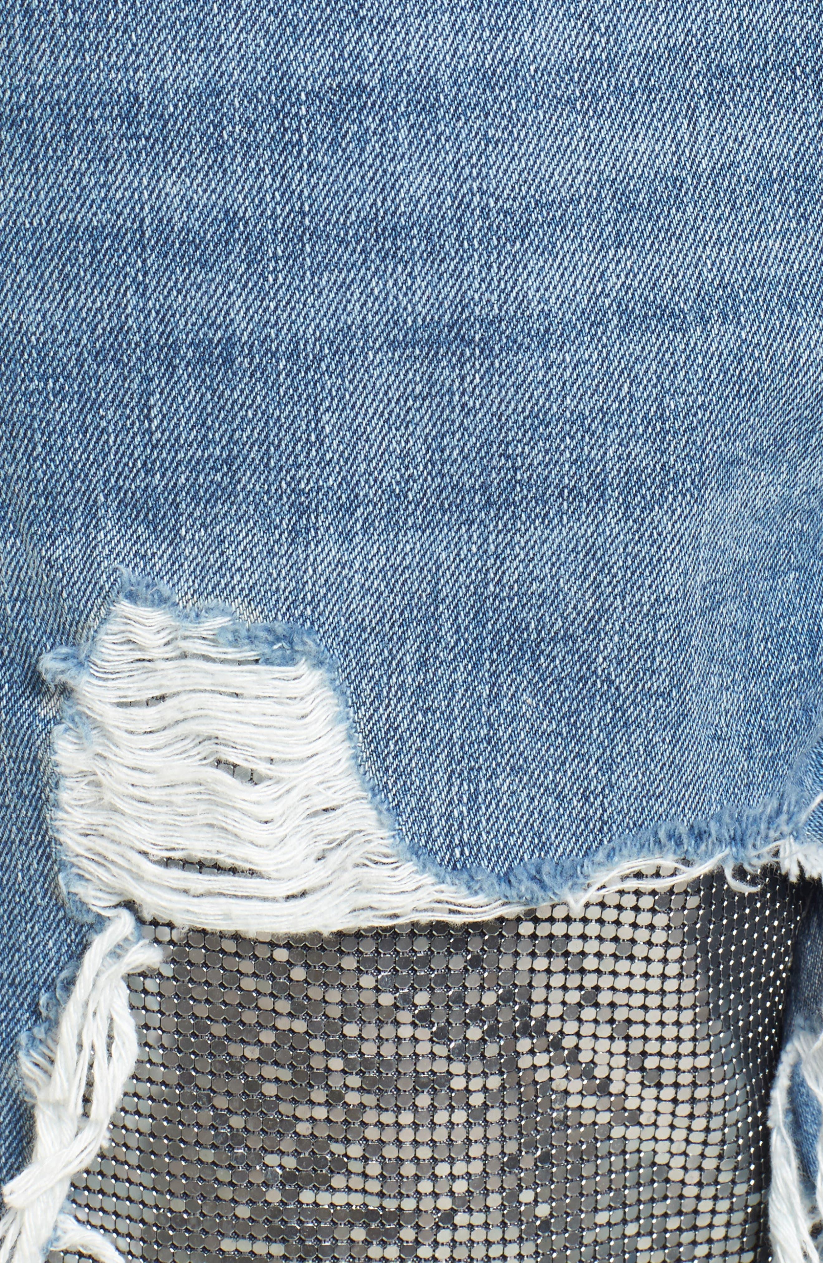 Chain Mail Boyfriend Jeans,                             Alternate thumbnail 7, color,                             Light Denim Multi