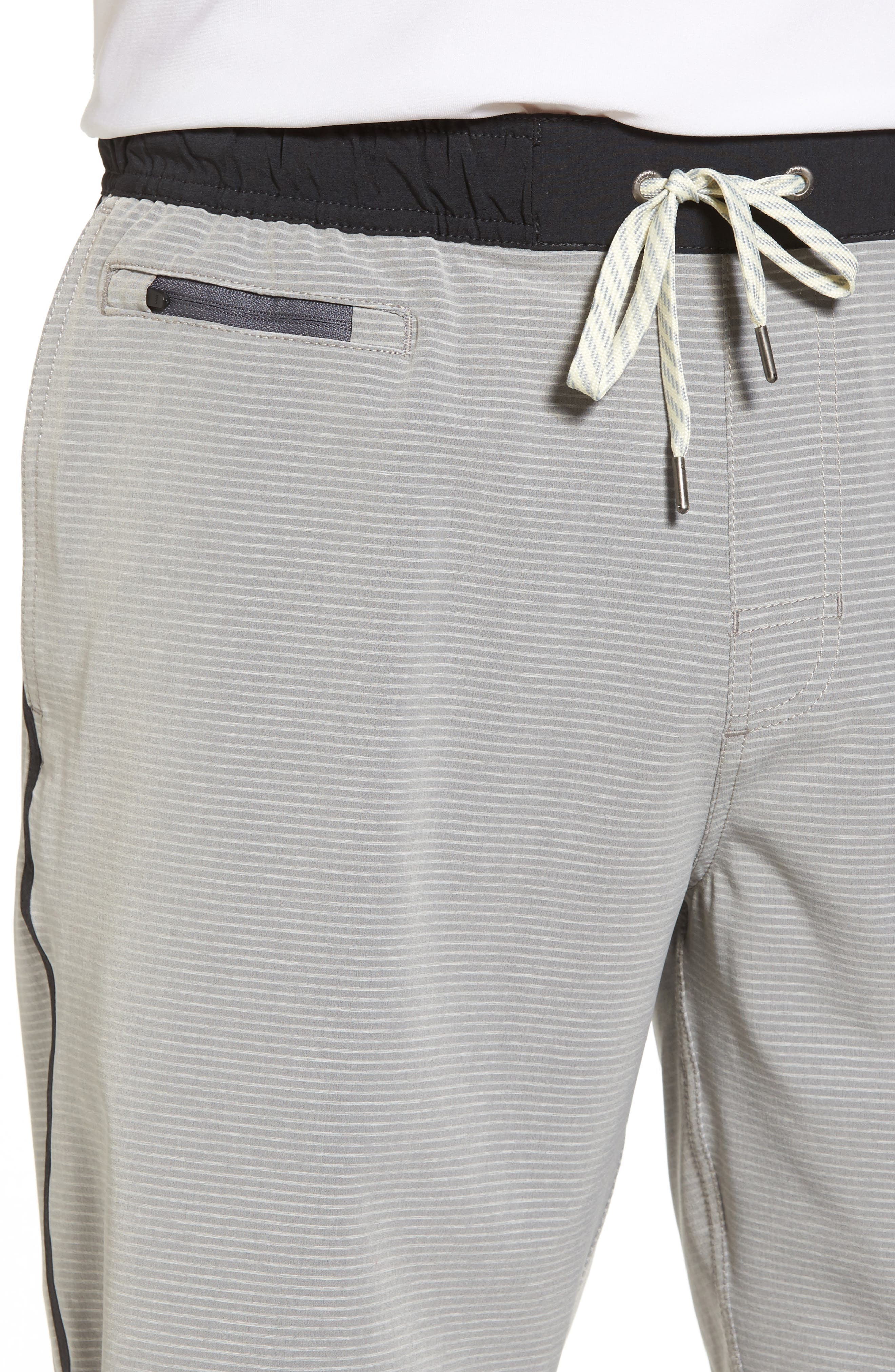 Banks Athletic Shorts,                             Alternate thumbnail 4, color,                             Light Grey Engineered Stripe