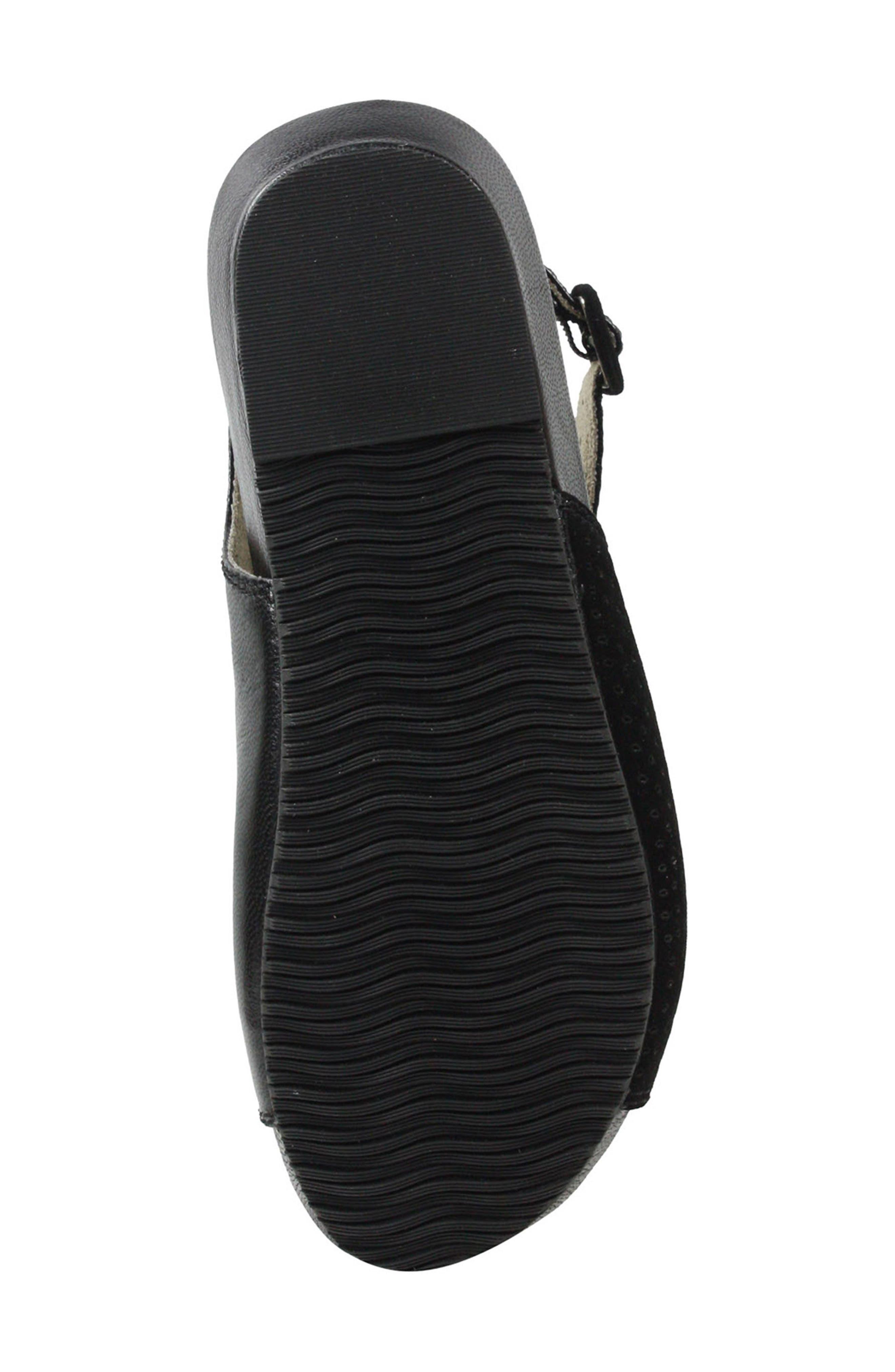 Dalenna Ankle Strap Sandal,                             Alternate thumbnail 6, color,                             Black Leather