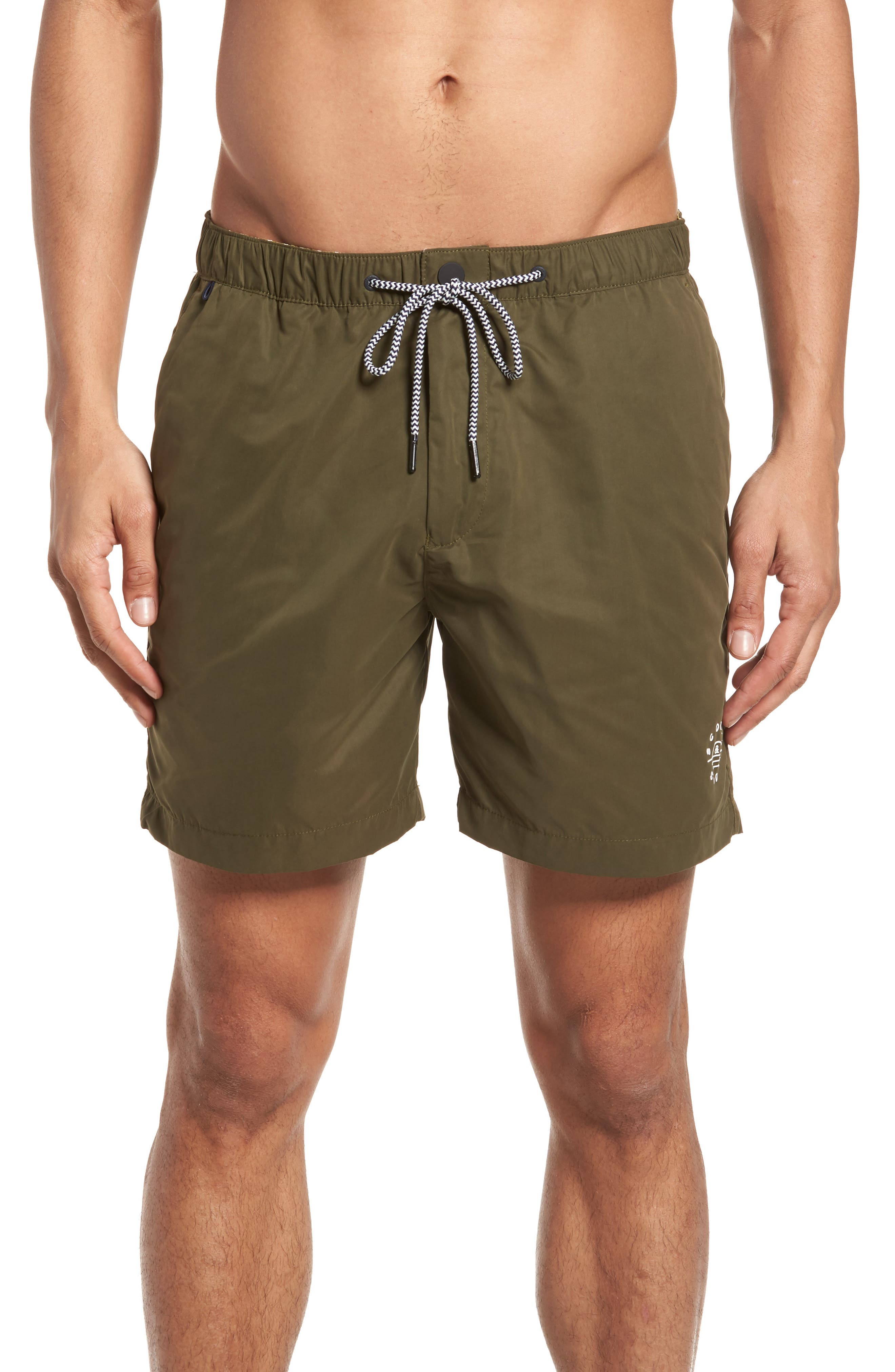 Swim Trunks,                         Main,                         color, Military