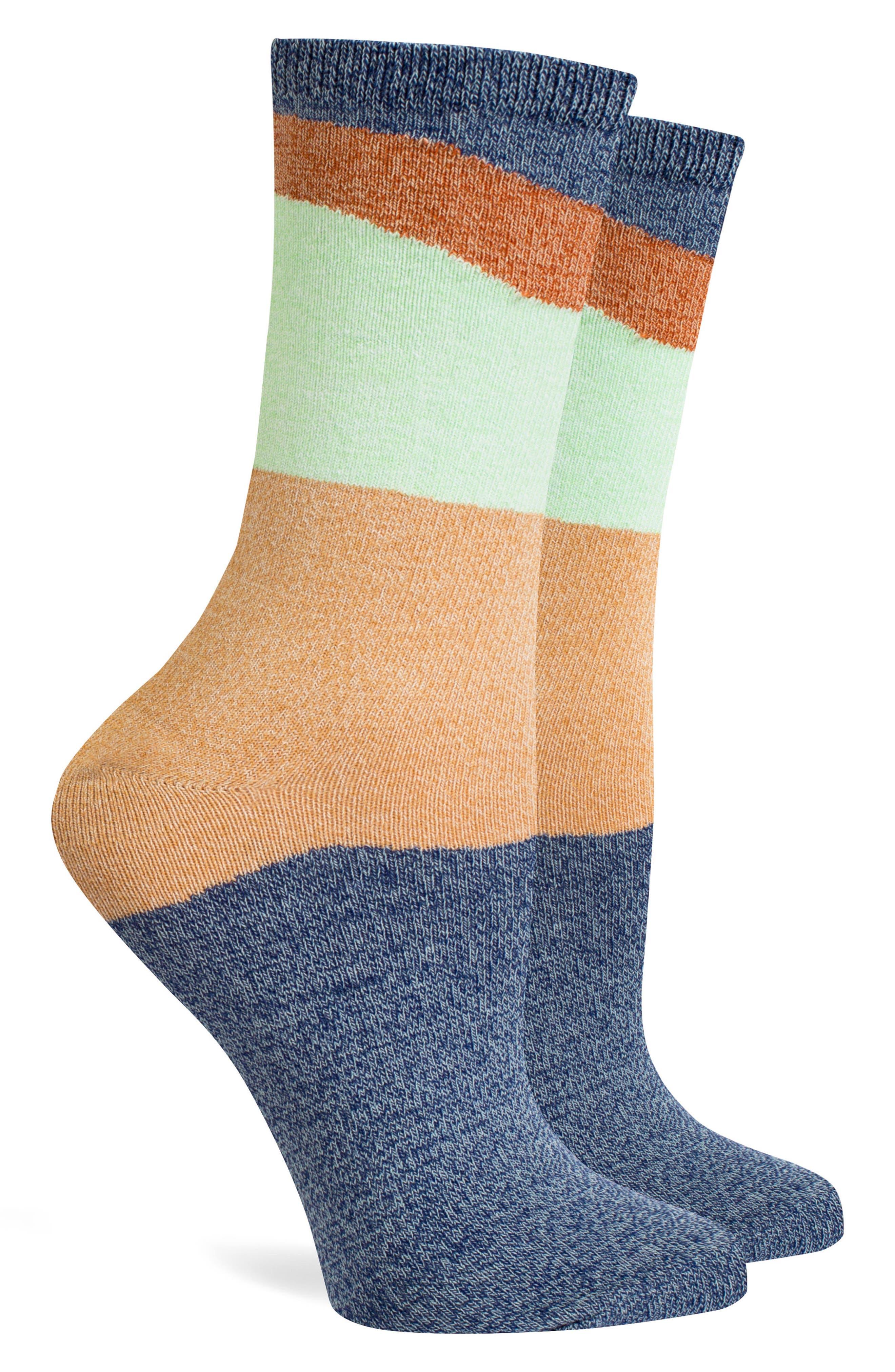 Addie Classic Crew Socks,                             Alternate thumbnail 2, color,                             Navy