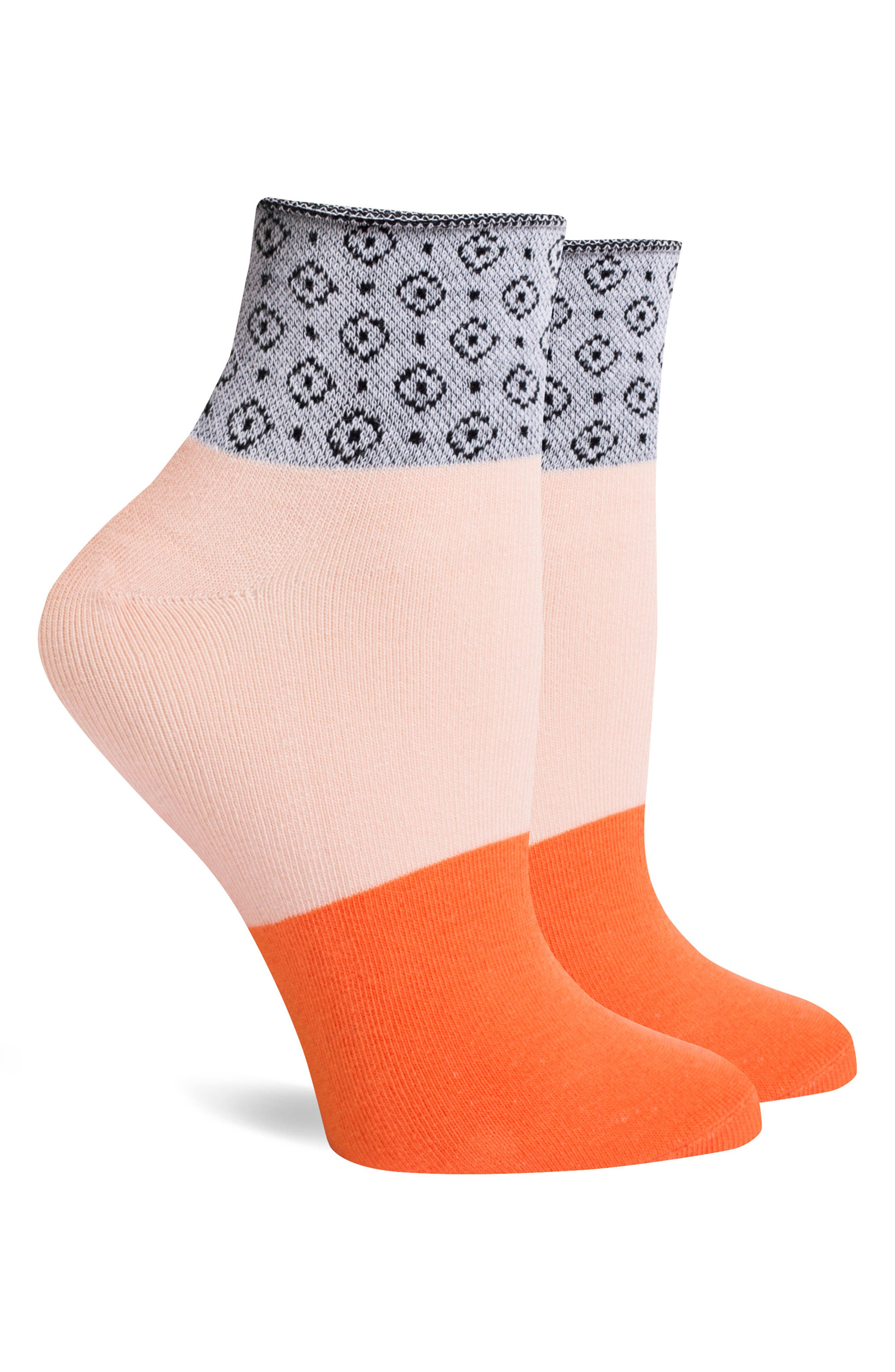 Celina Ankle Socks,                             Alternate thumbnail 3, color,                             Pink