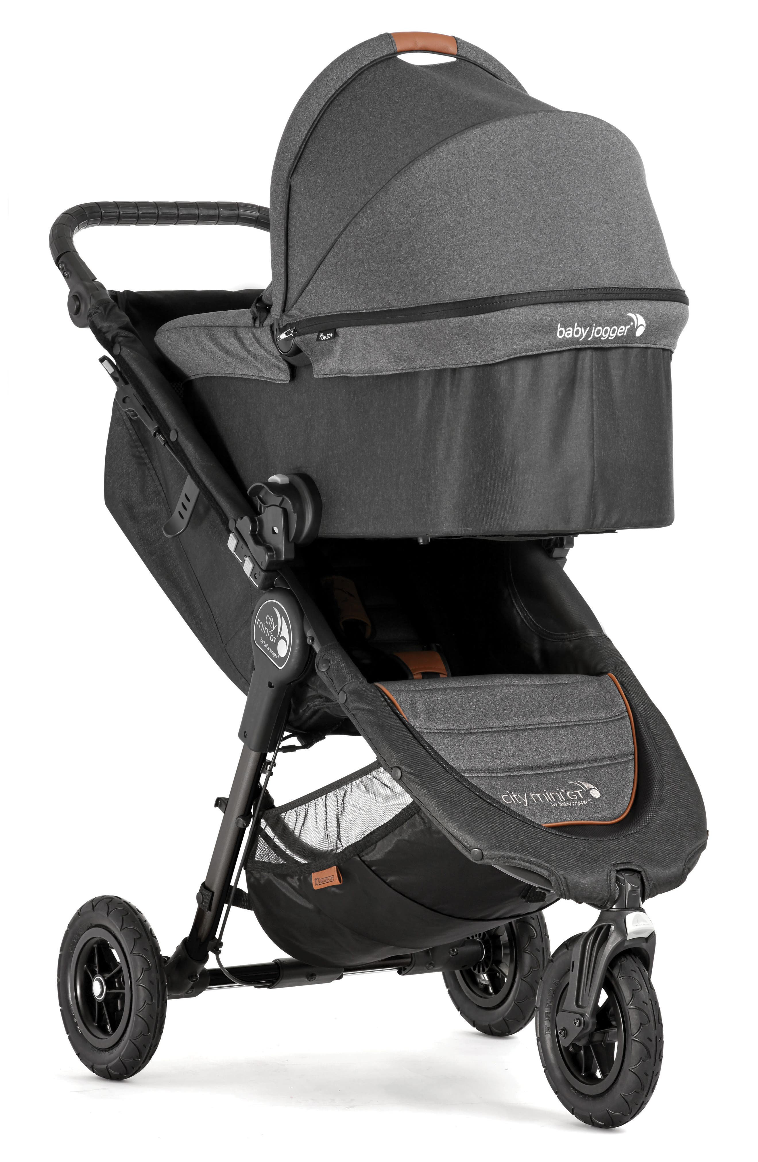 Deluxe Pram Converter Kit for City Mini<sup>®</sup> 2018 Special Edition 10-Year Anniversary All-Terrain Stroller,                             Alternate thumbnail 8, color,                             Grey