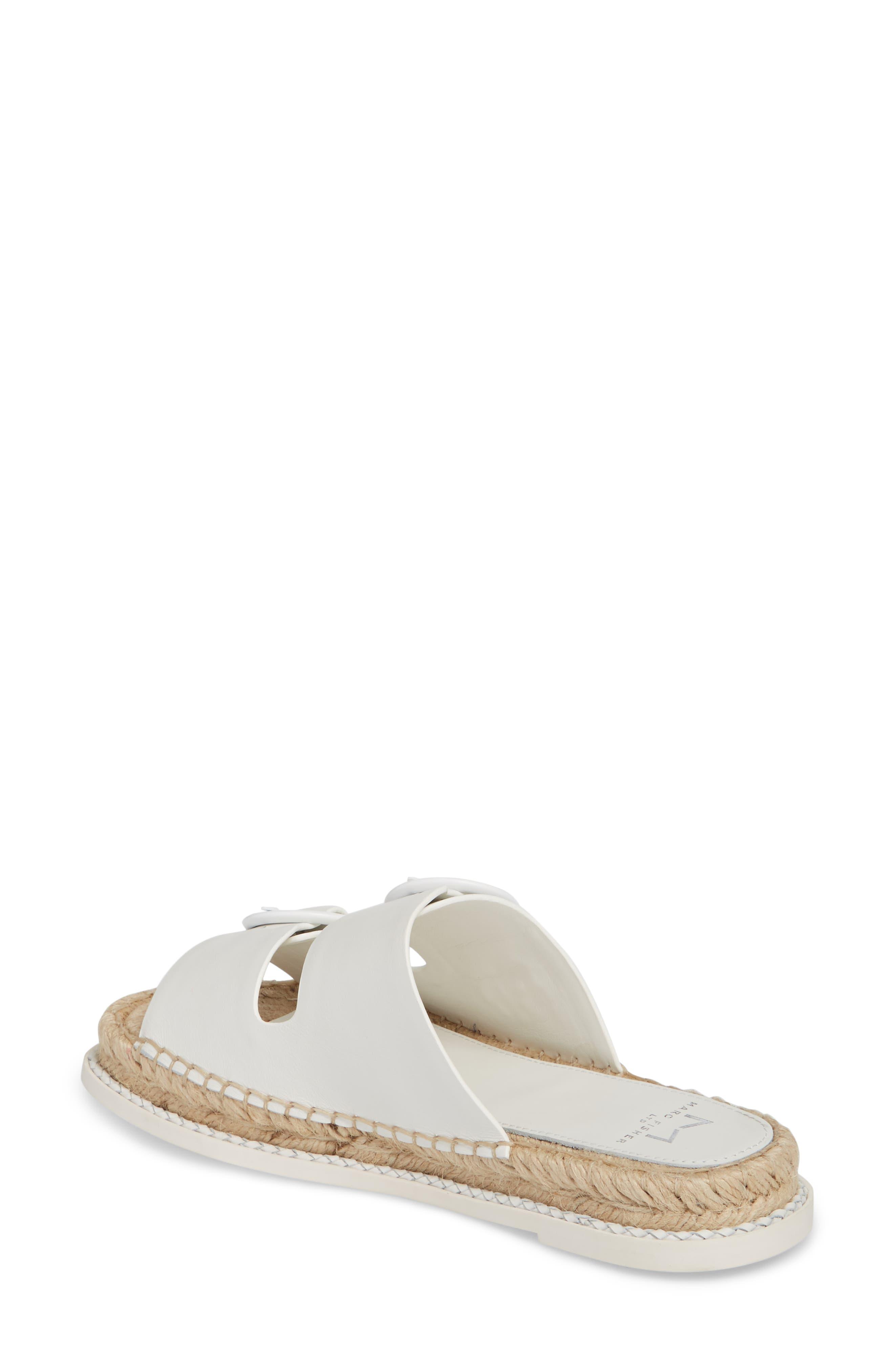 Ramba Espadrille Slide Sandal,                             Alternate thumbnail 2, color,                             White Leather