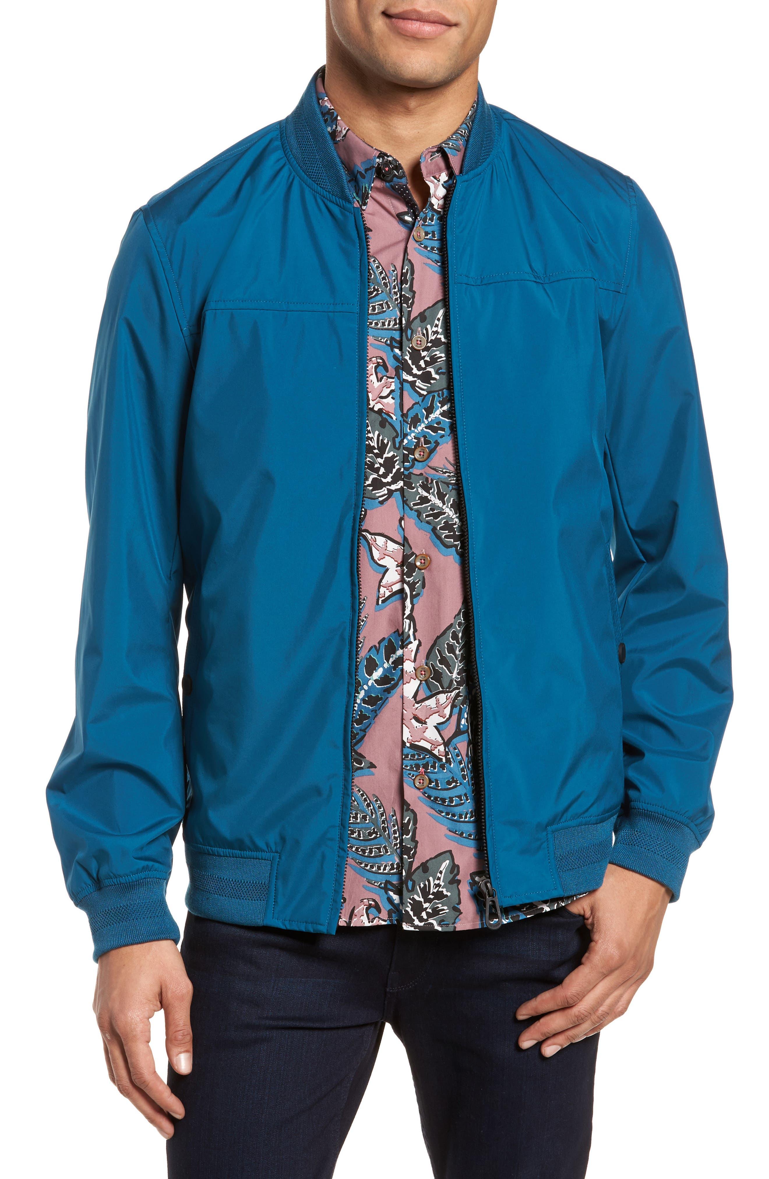 Ohta Bomber Jacket,                         Main,                         color, Teal