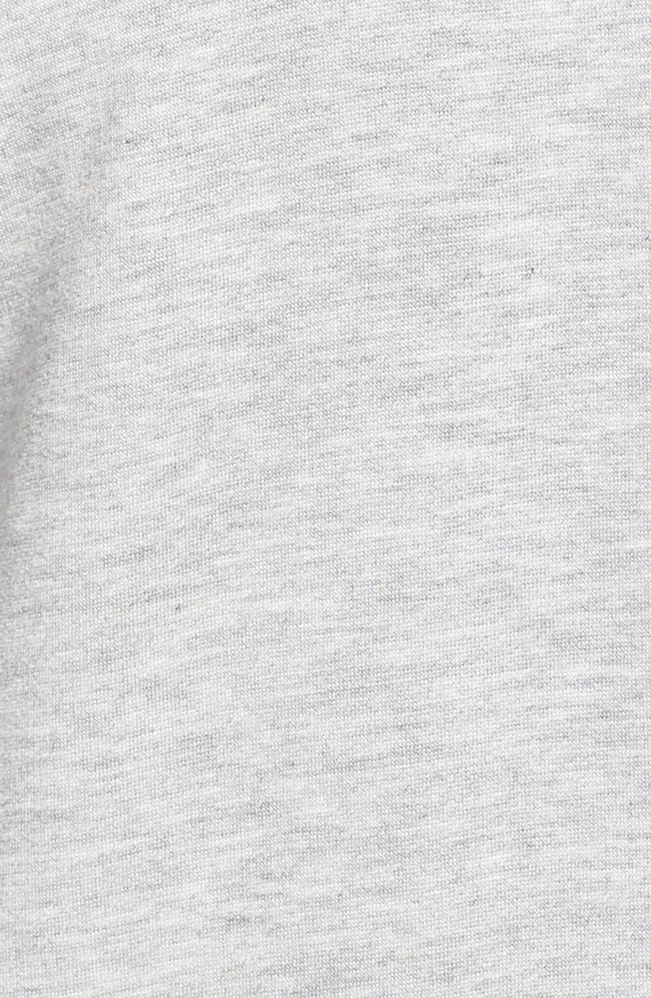 Love & Fleece Split-Back Hooded Cardigan,                             Alternate thumbnail 6, color,                             Light Heather Grey