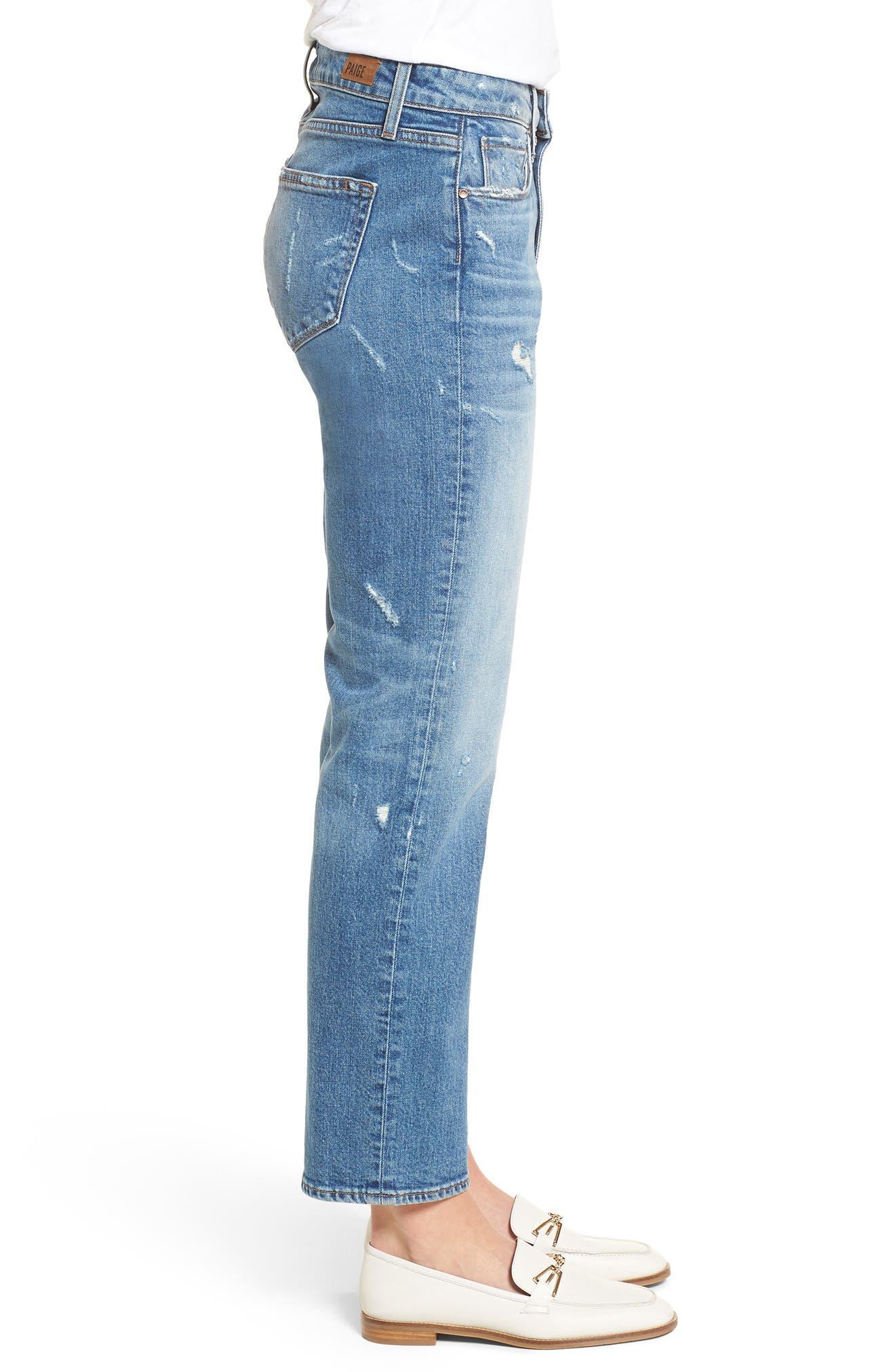 Transcend Vintage - Noella Straight Leg Jeans,                             Alternate thumbnail 4, color,                             Iola