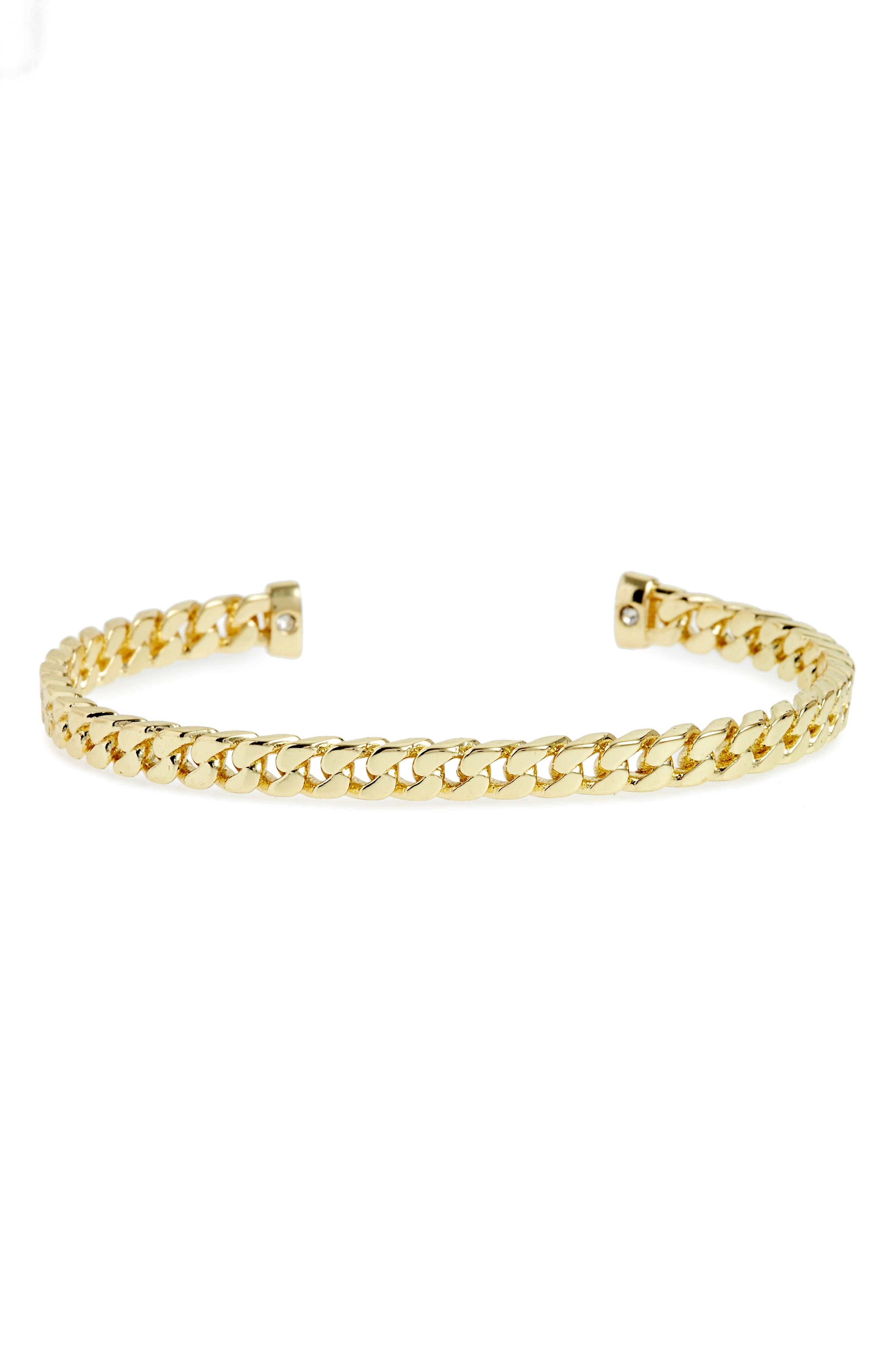 Cuff Bracelet,                         Main,                         color, Yellow Gold