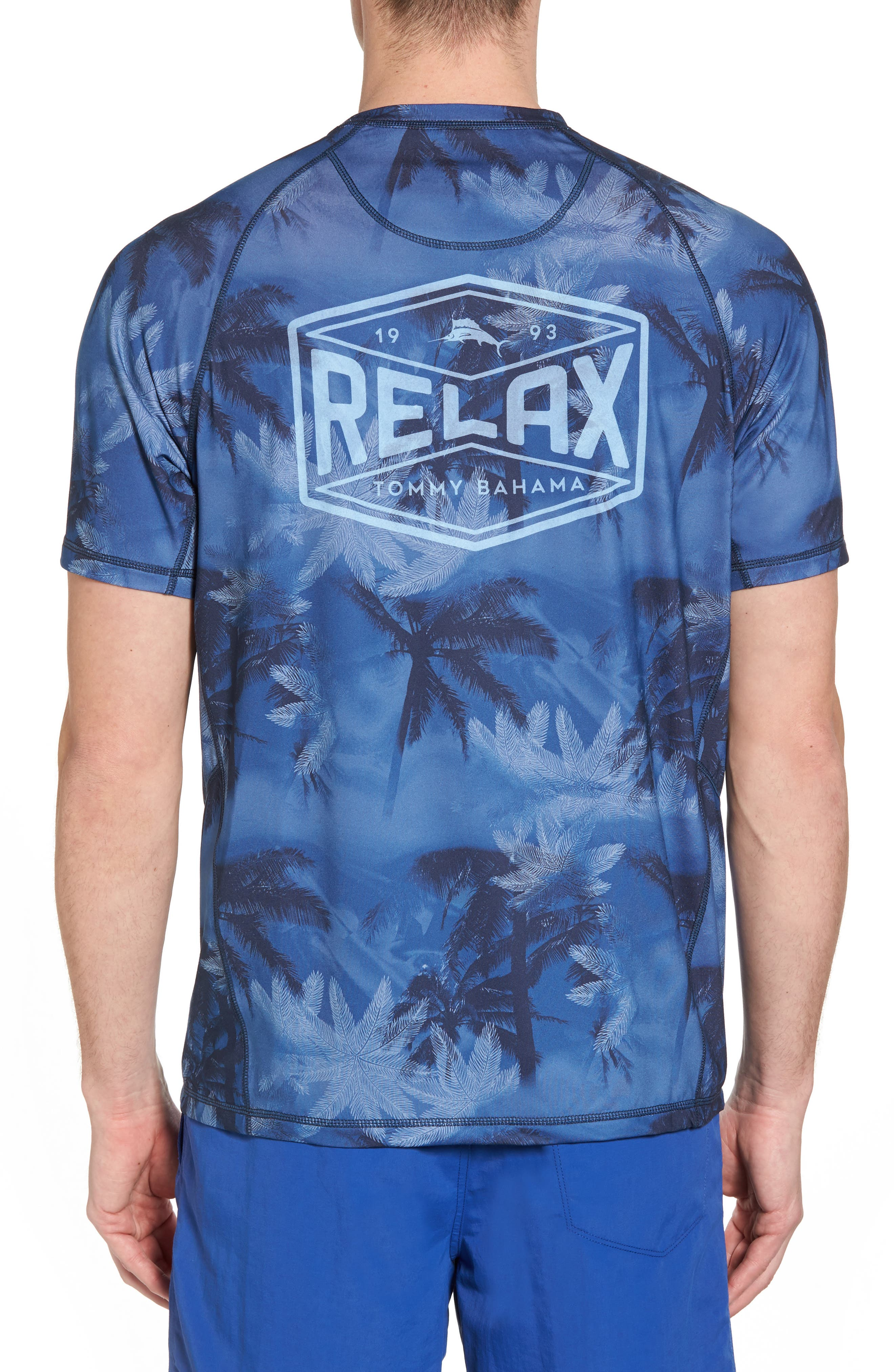 Tropic Haze Print Performance T-Shirt,                             Alternate thumbnail 2, color,                             Atlantic