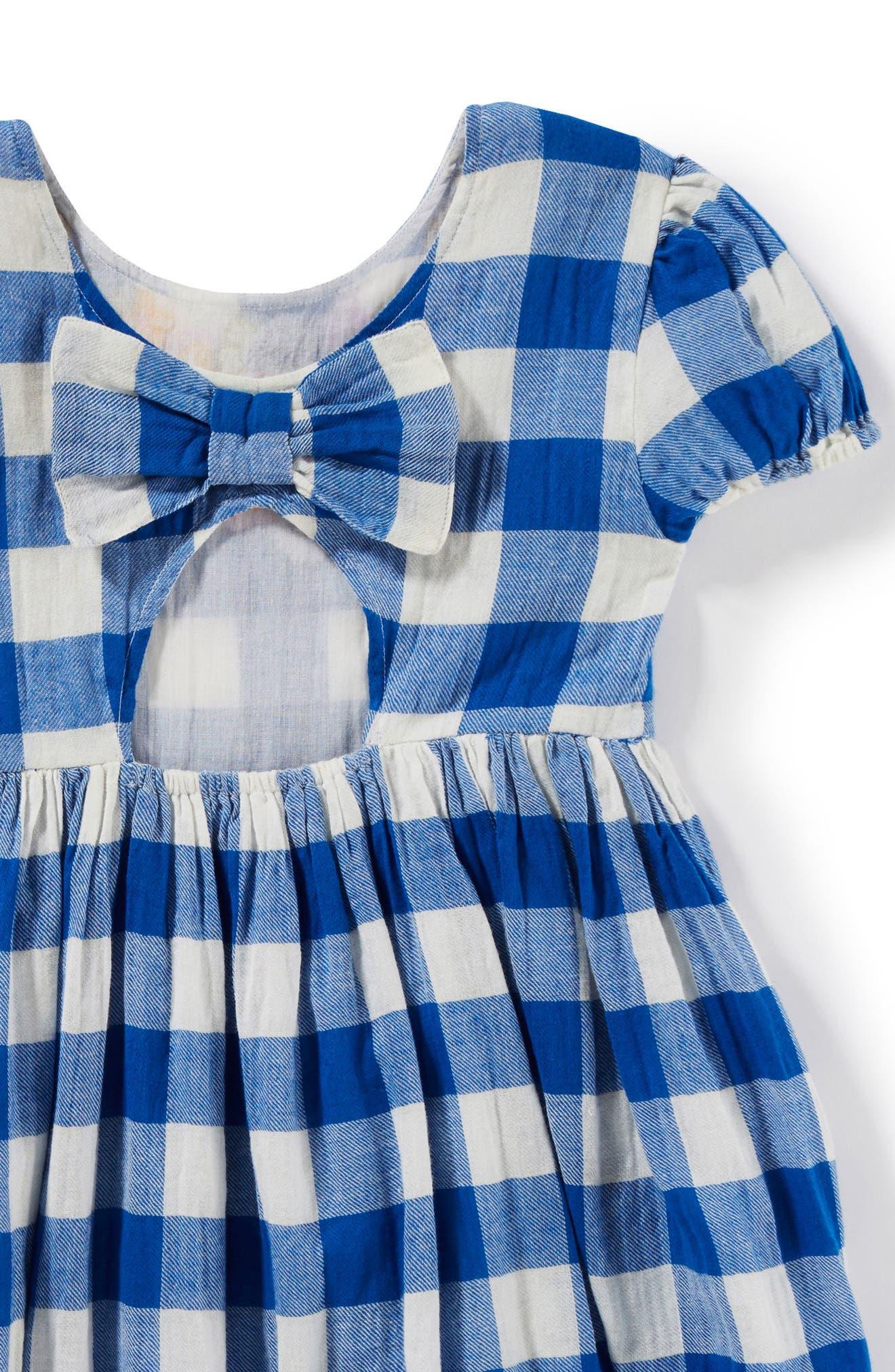 Alternate Image 2  - Peek Penelope Embroidered Check Dress (Toddler Girls, Little Girls & Big Girls)