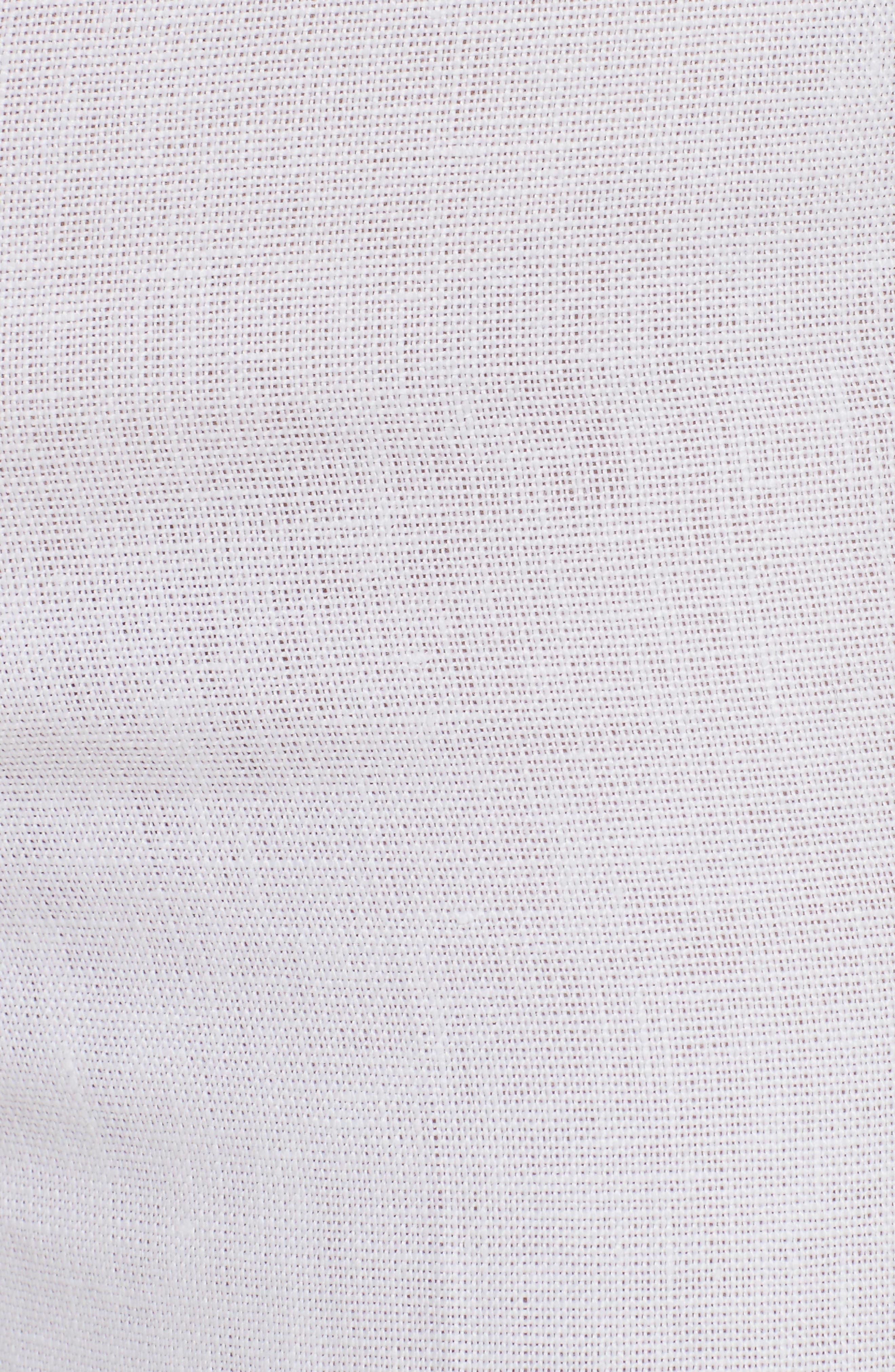 Terena B Linen Wide Leg Pants,                             Alternate thumbnail 5, color,                             White