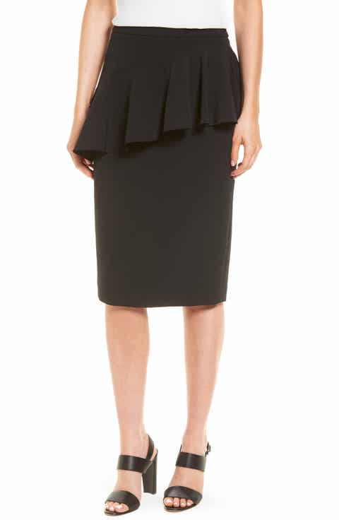Halogen® Ruffle Detail Pencil Skirt