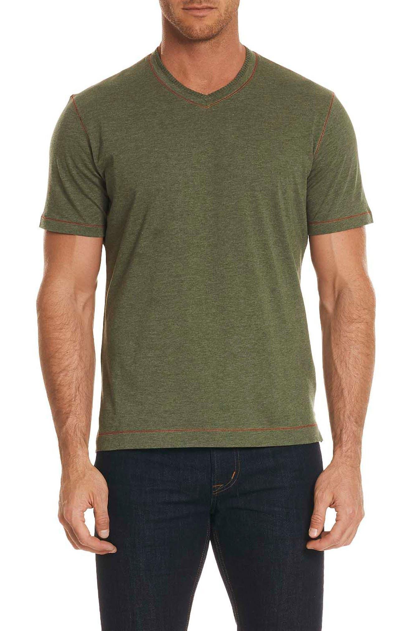 Traveler V-Neck T-Shirt,                             Main thumbnail 1, color,                             Army