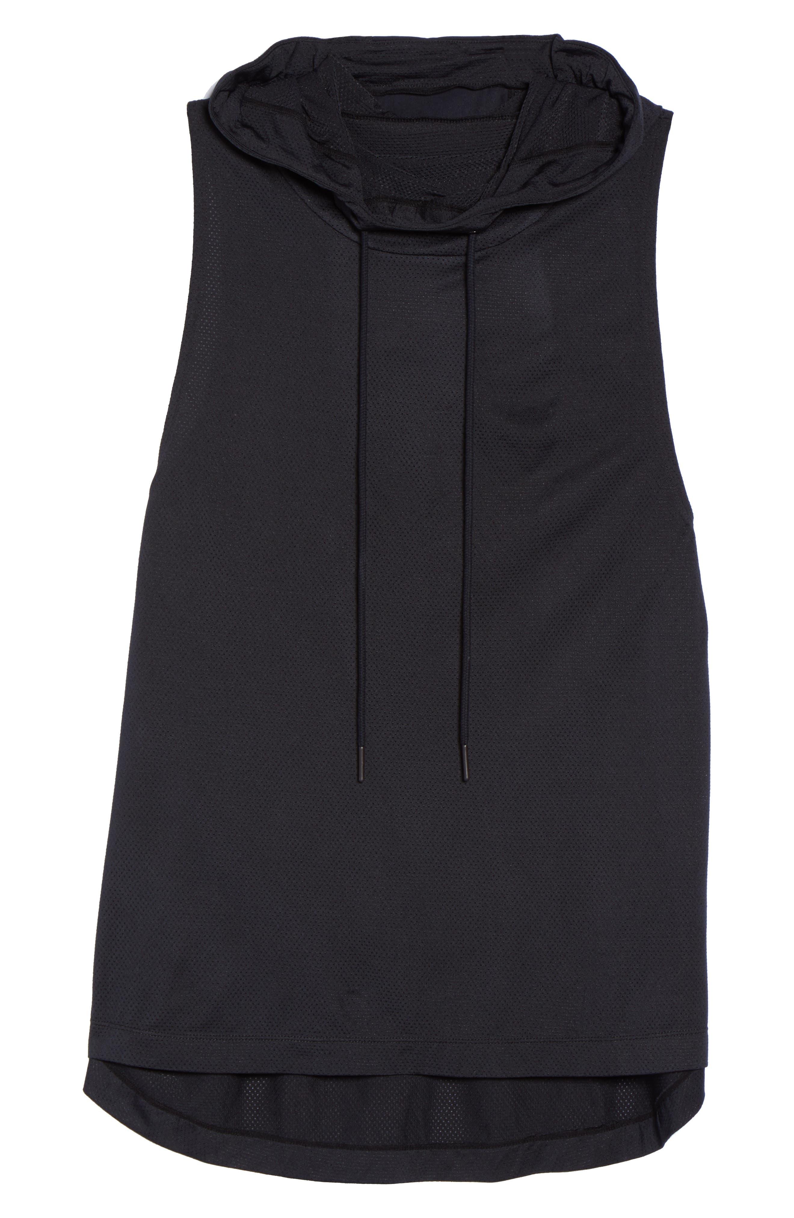 Endurance Hoodie Vest,                             Alternate thumbnail 7, color,                             Black