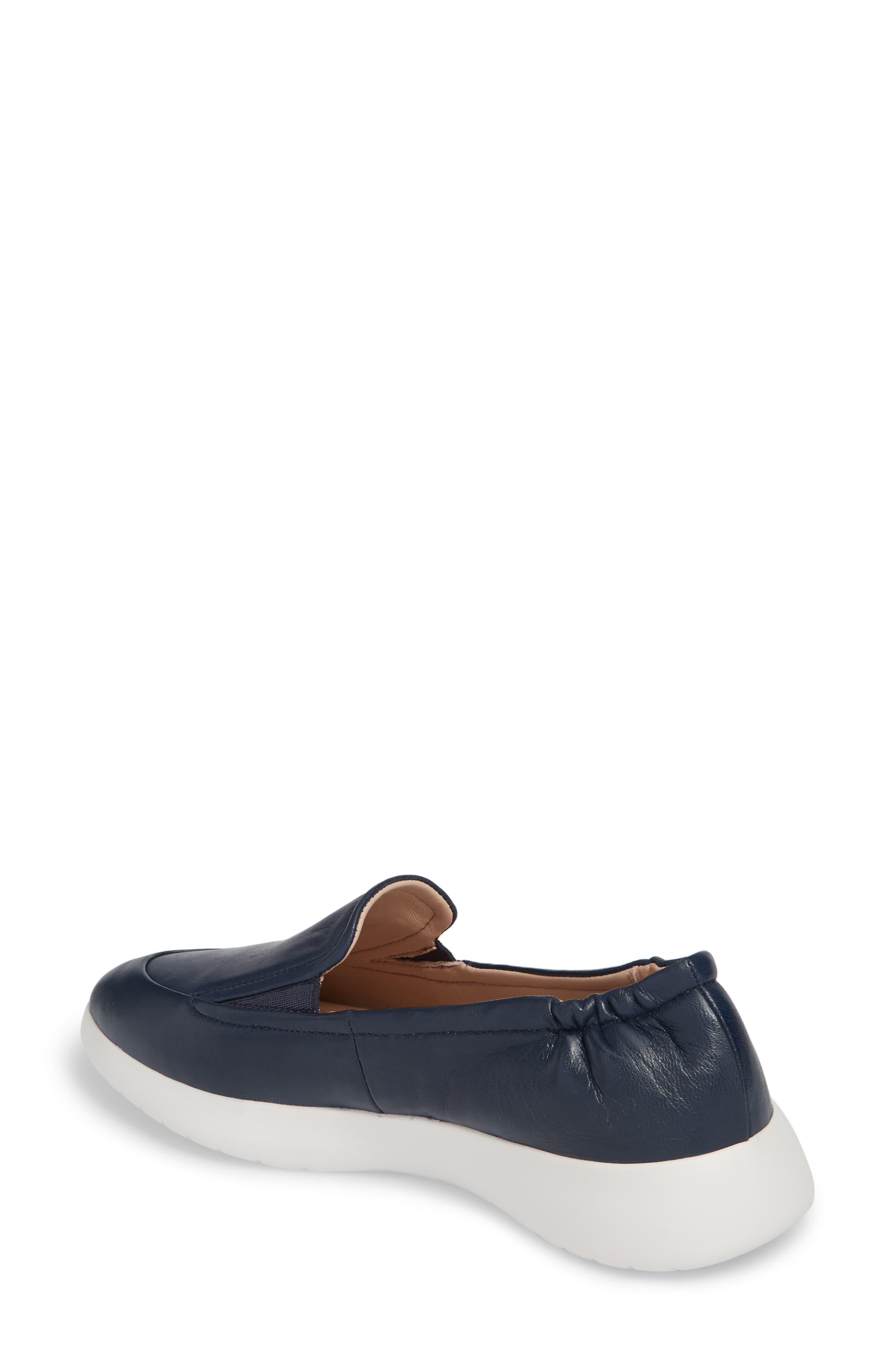 Dana Loafer Sneaker,                             Alternate thumbnail 2, color,                             Navy Leather