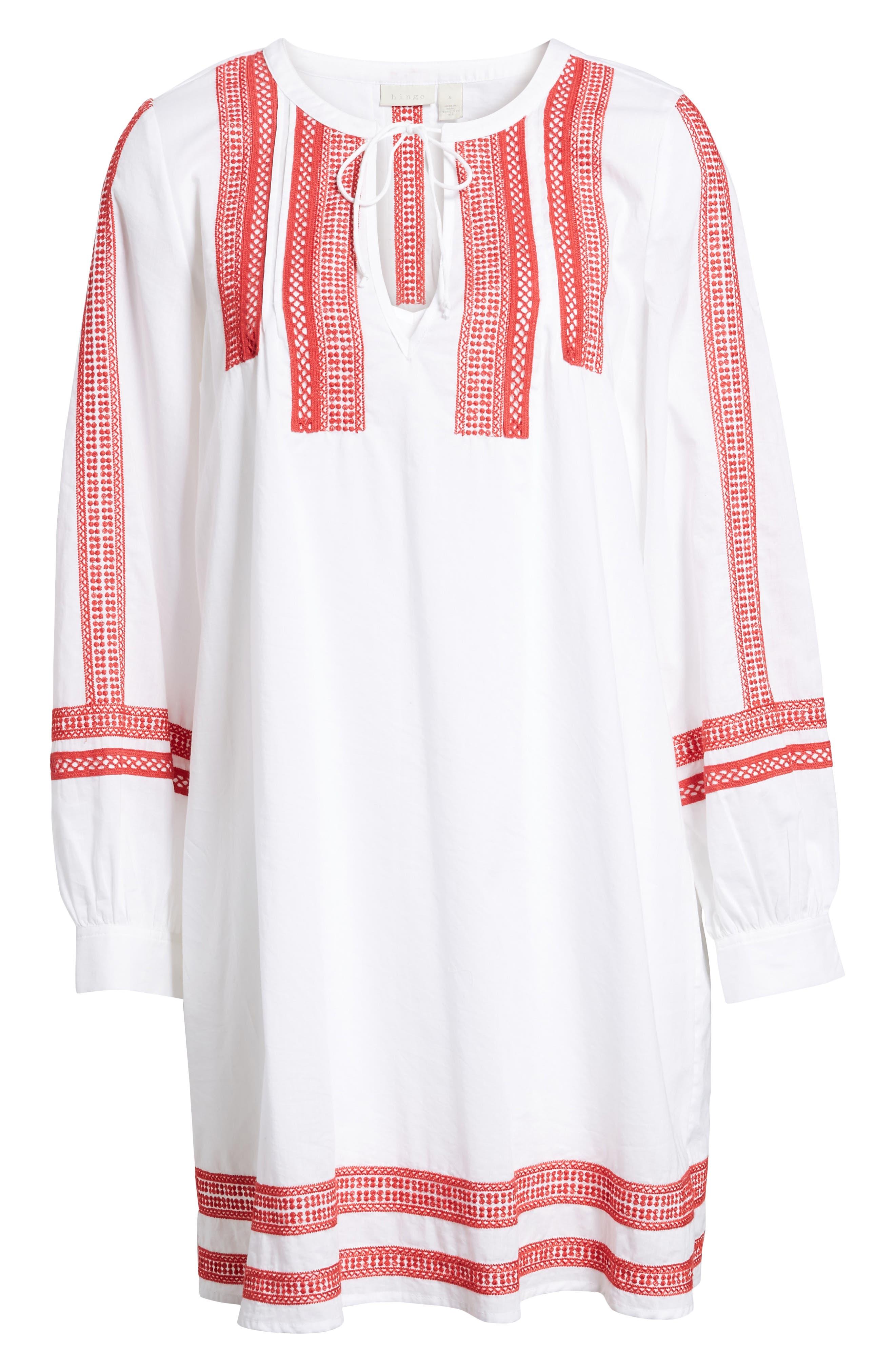 Alternate Image 6  - Hinge Embroidered Lace Minidress