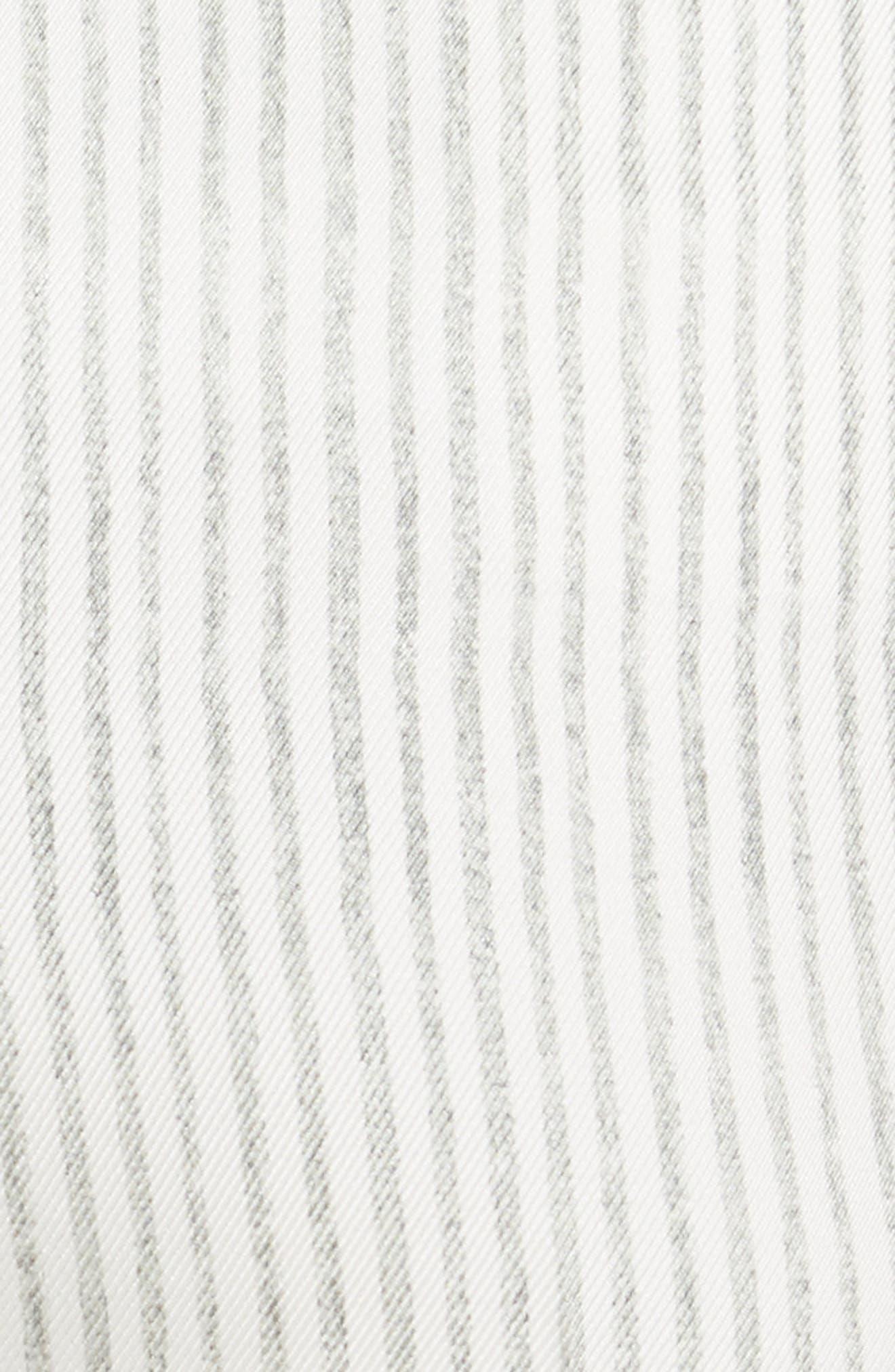 High Waist Silk Twill Pants,                             Alternate thumbnail 5, color,                             White