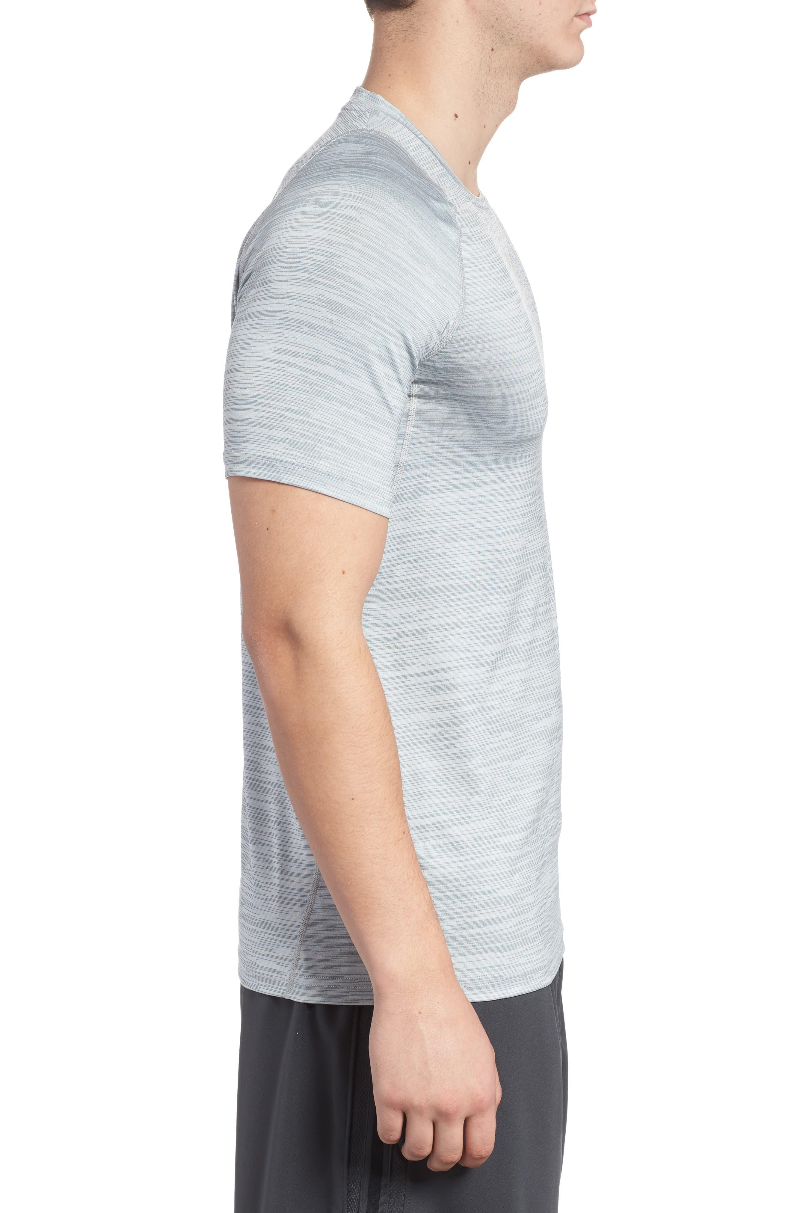 Training Top Crewneck T-Shirt,                             Alternate thumbnail 3, color,                             Cool Grey/ White/ Black