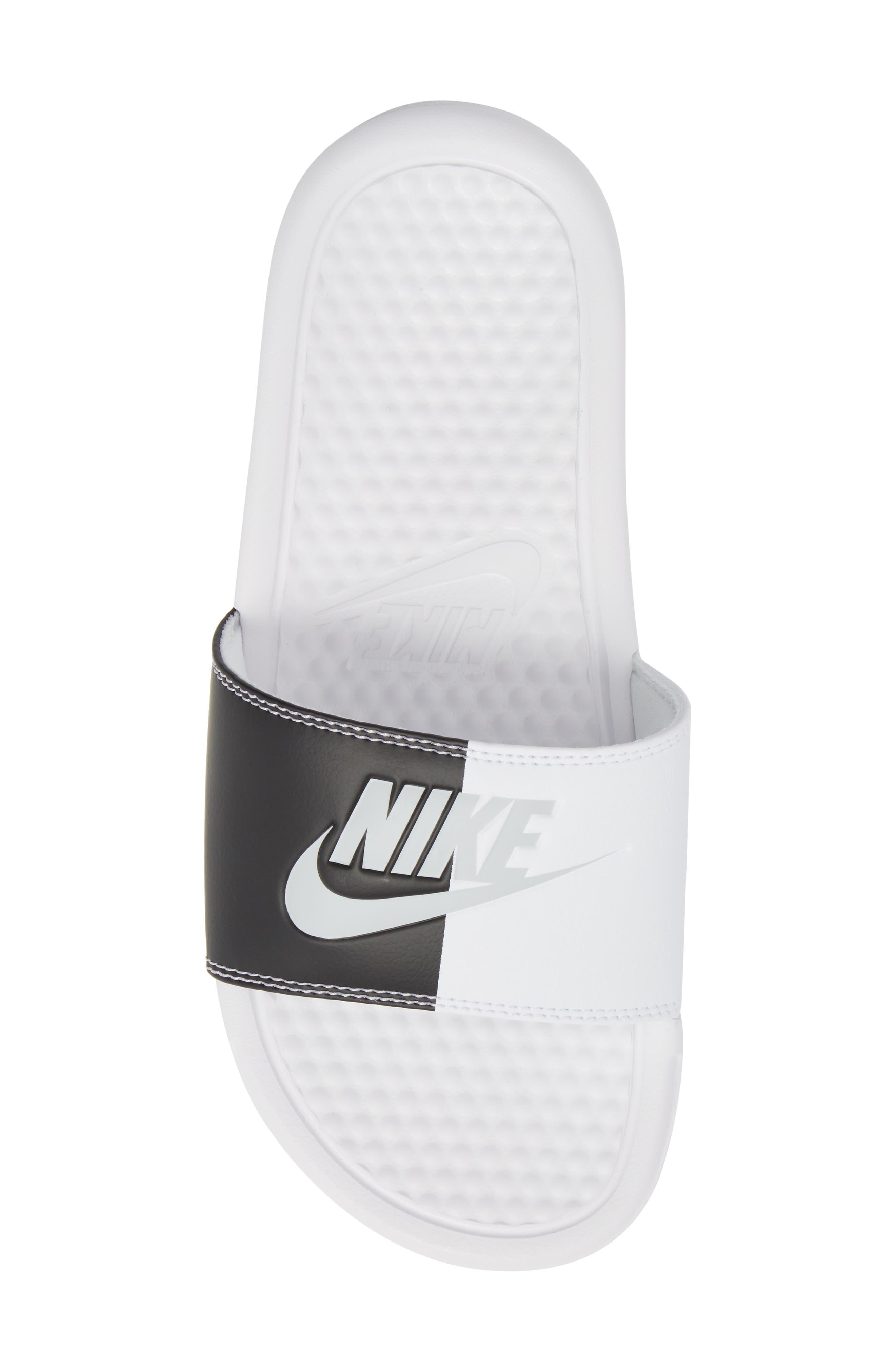 Benassi JDI Slide Sandal,                             Alternate thumbnail 5, color,                             White/ Pure Platinum