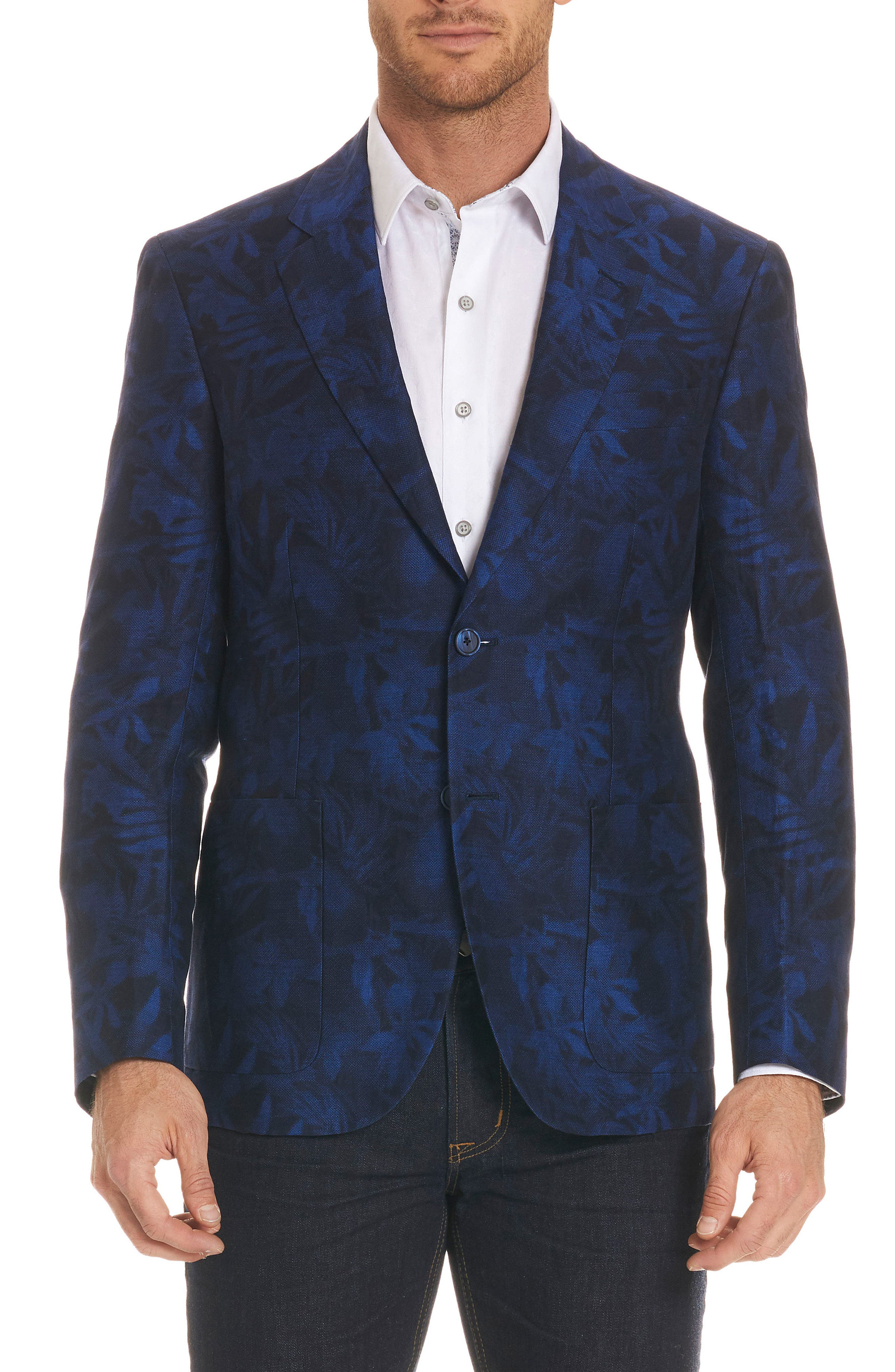 Buxons Linen & Cotton Sport Coat,                         Main,                         color, Blue