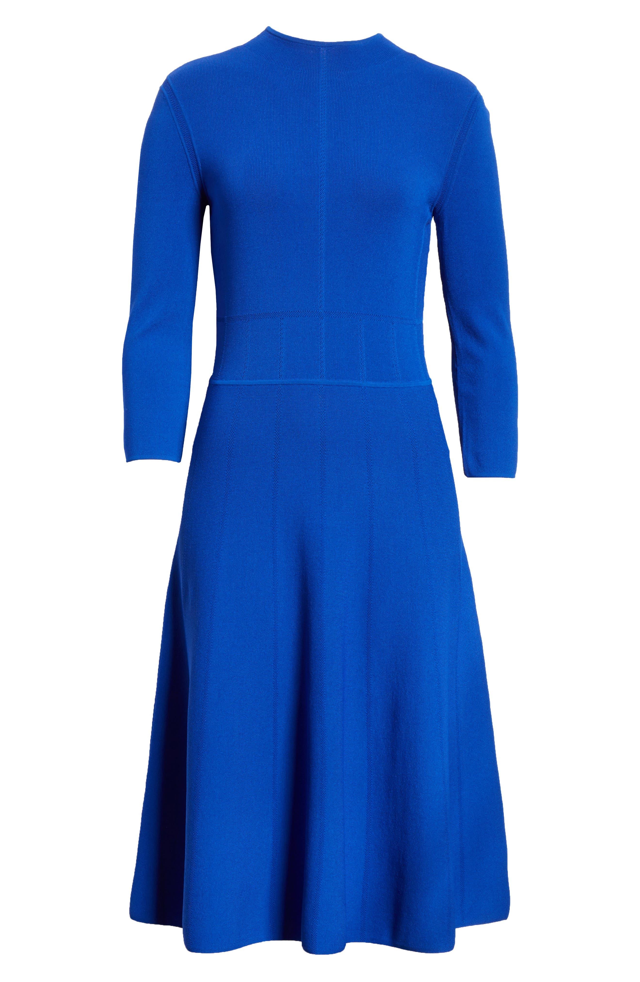 Alternate Image 6  - Emporio Armani High Neck Fit & Flare Dress