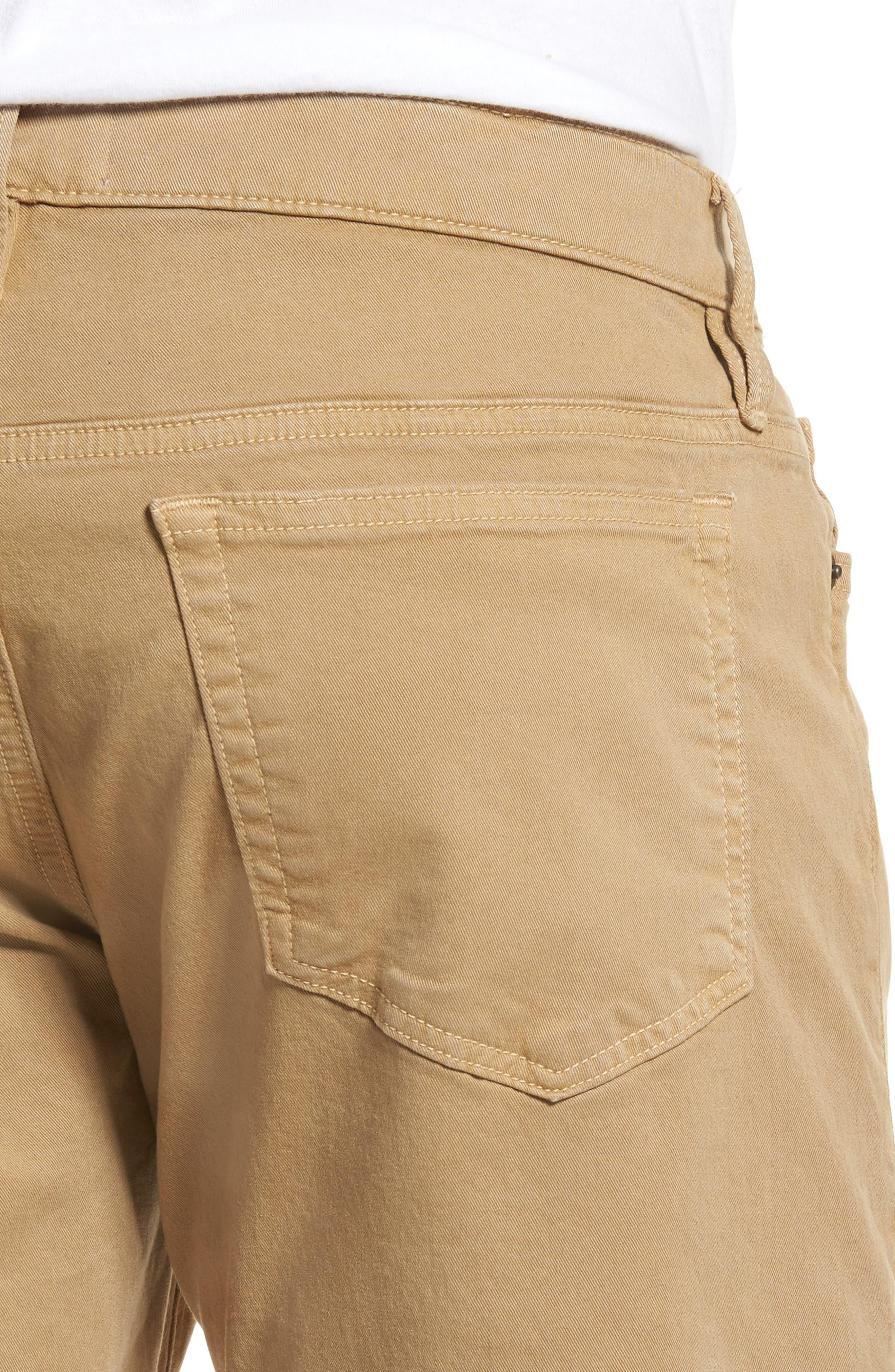 Homme Slim Fit Chino Pants,                             Alternate thumbnail 4, color,                             Khaki