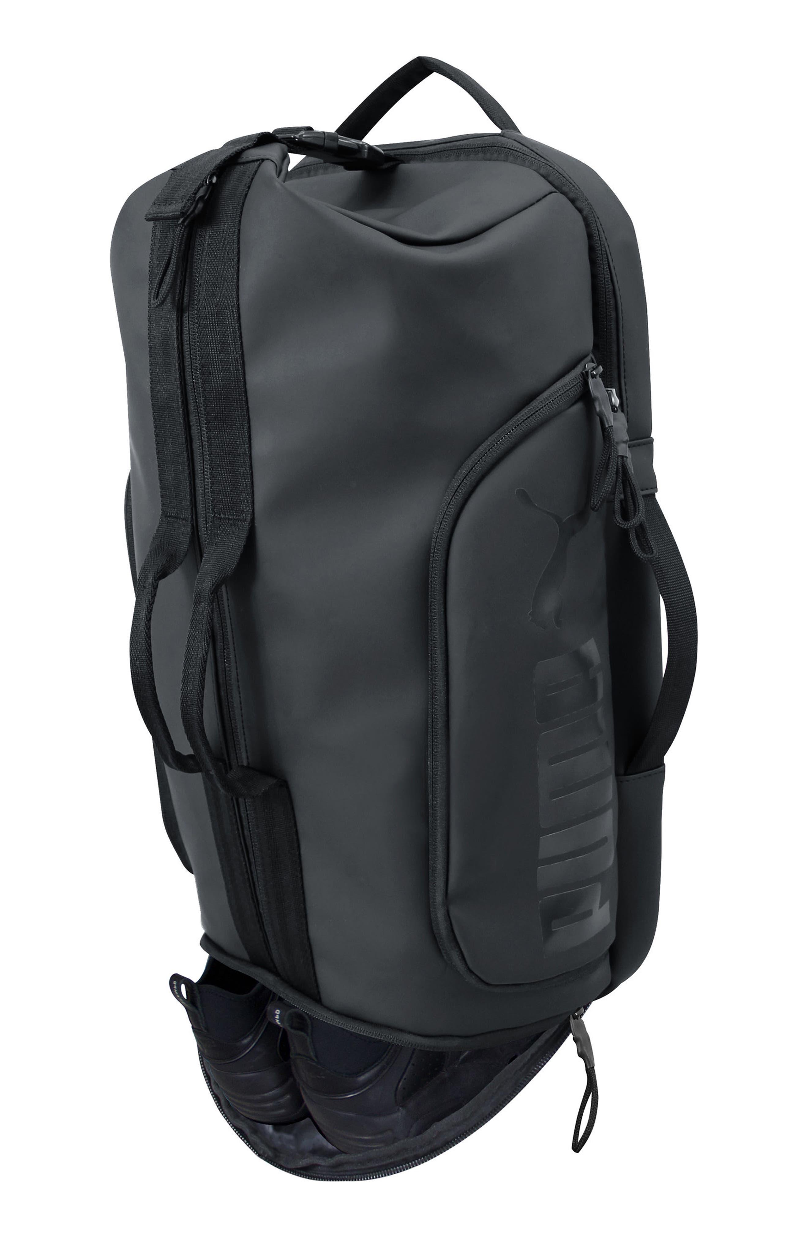 The Protocol Hybrid Duffel Backpack,                             Alternate thumbnail 4, color,                             Black