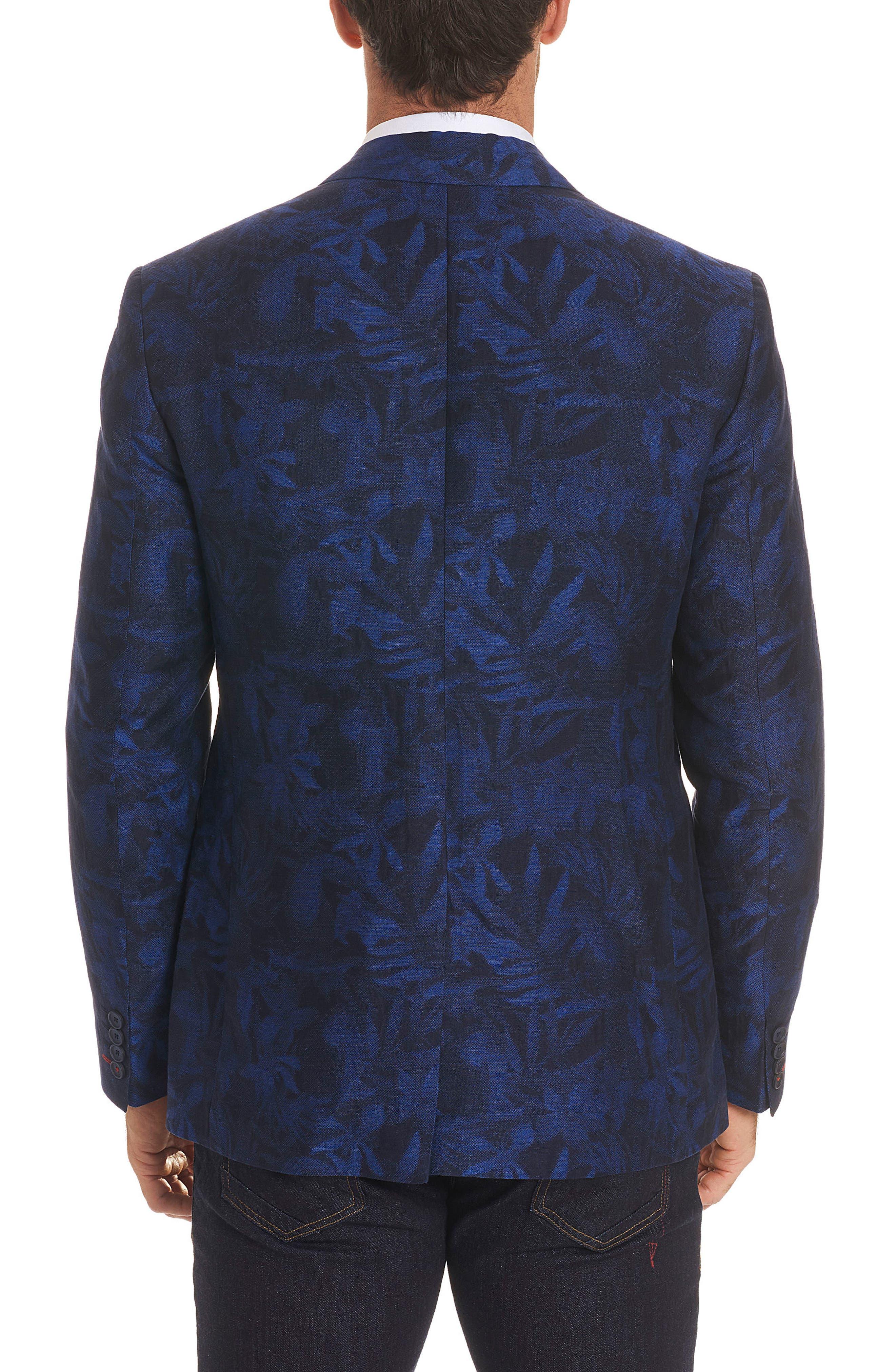 Buxons Linen & Cotton Sport Coat,                             Alternate thumbnail 2, color,                             Blue
