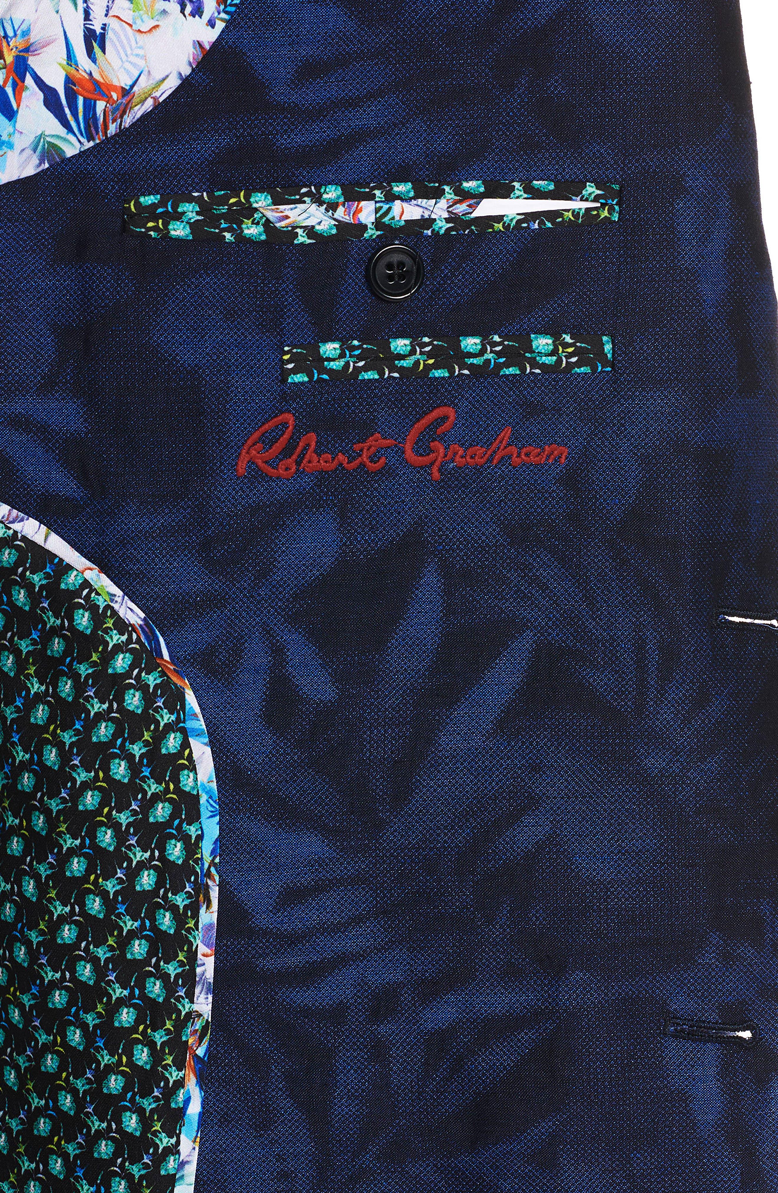 Buxons Linen & Cotton Sport Coat,                             Alternate thumbnail 4, color,                             Blue