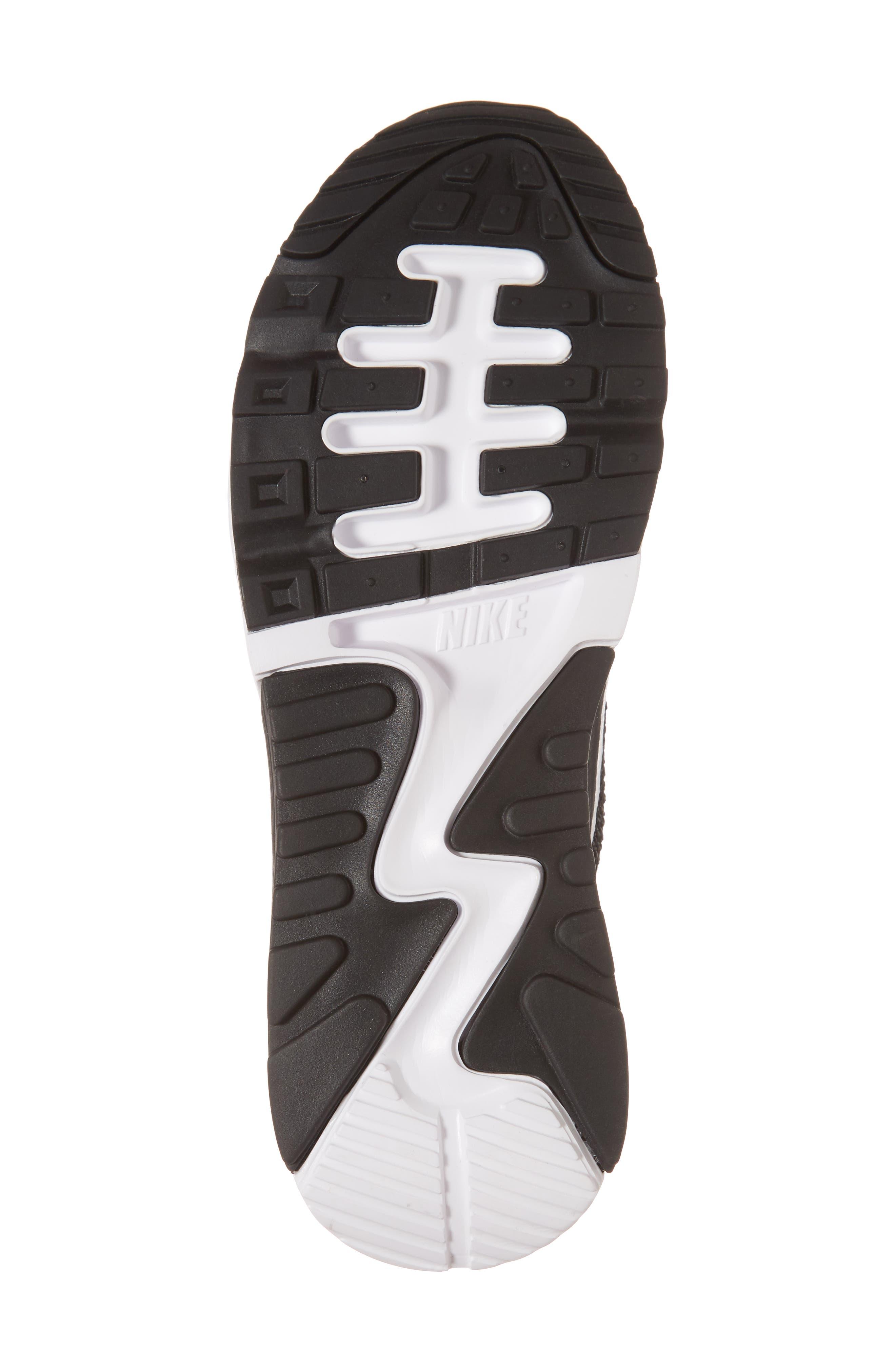 Air Max 90 Flyknit Ultra 2.0 Sneaker,                             Alternate thumbnail 6, color,                             Black/ White/ Dark Grey