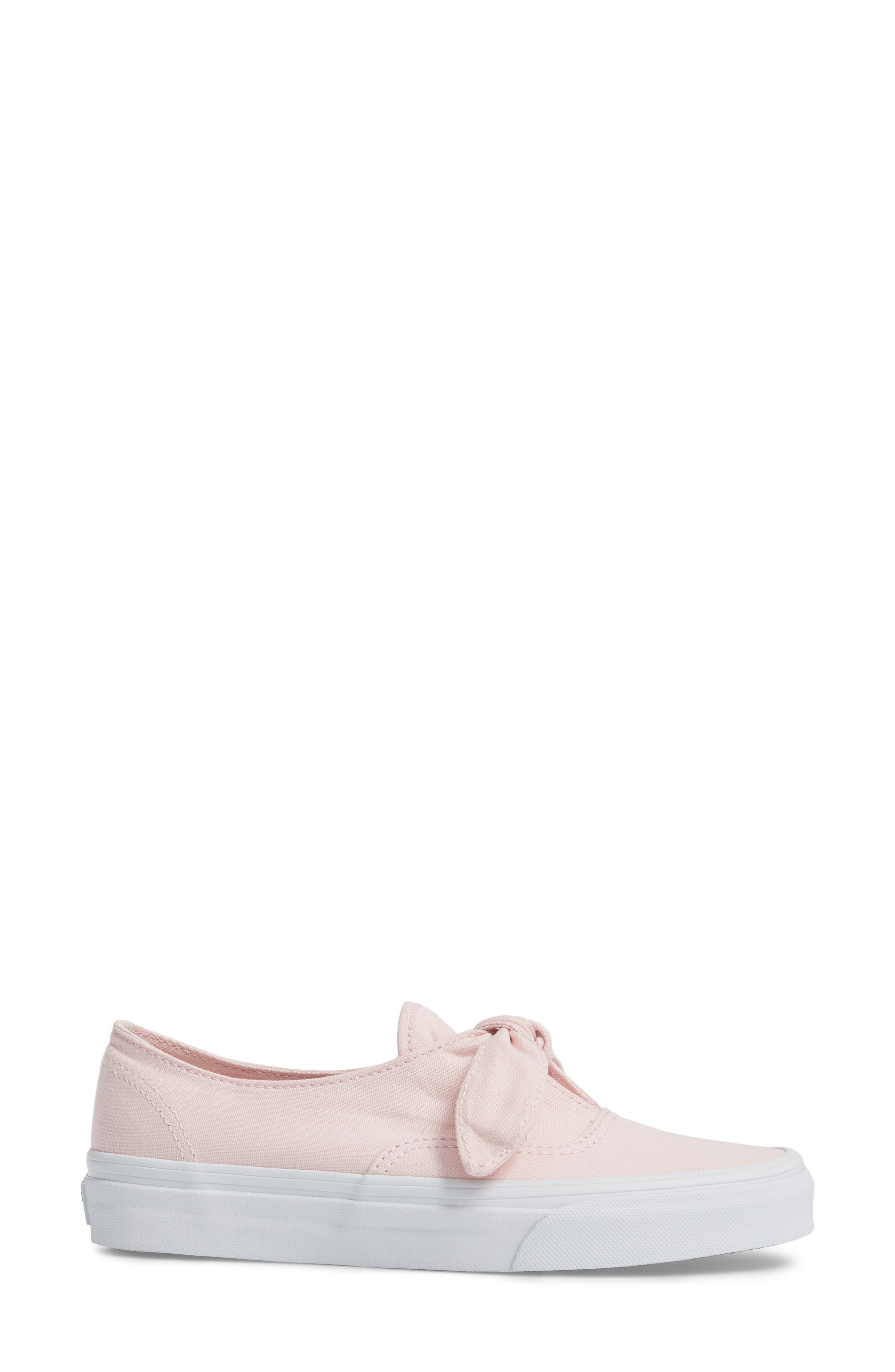 UA Authentic Knotted Slip-On Sneaker,                             Alternate thumbnail 3, color,                             Chalk Pink/ True White