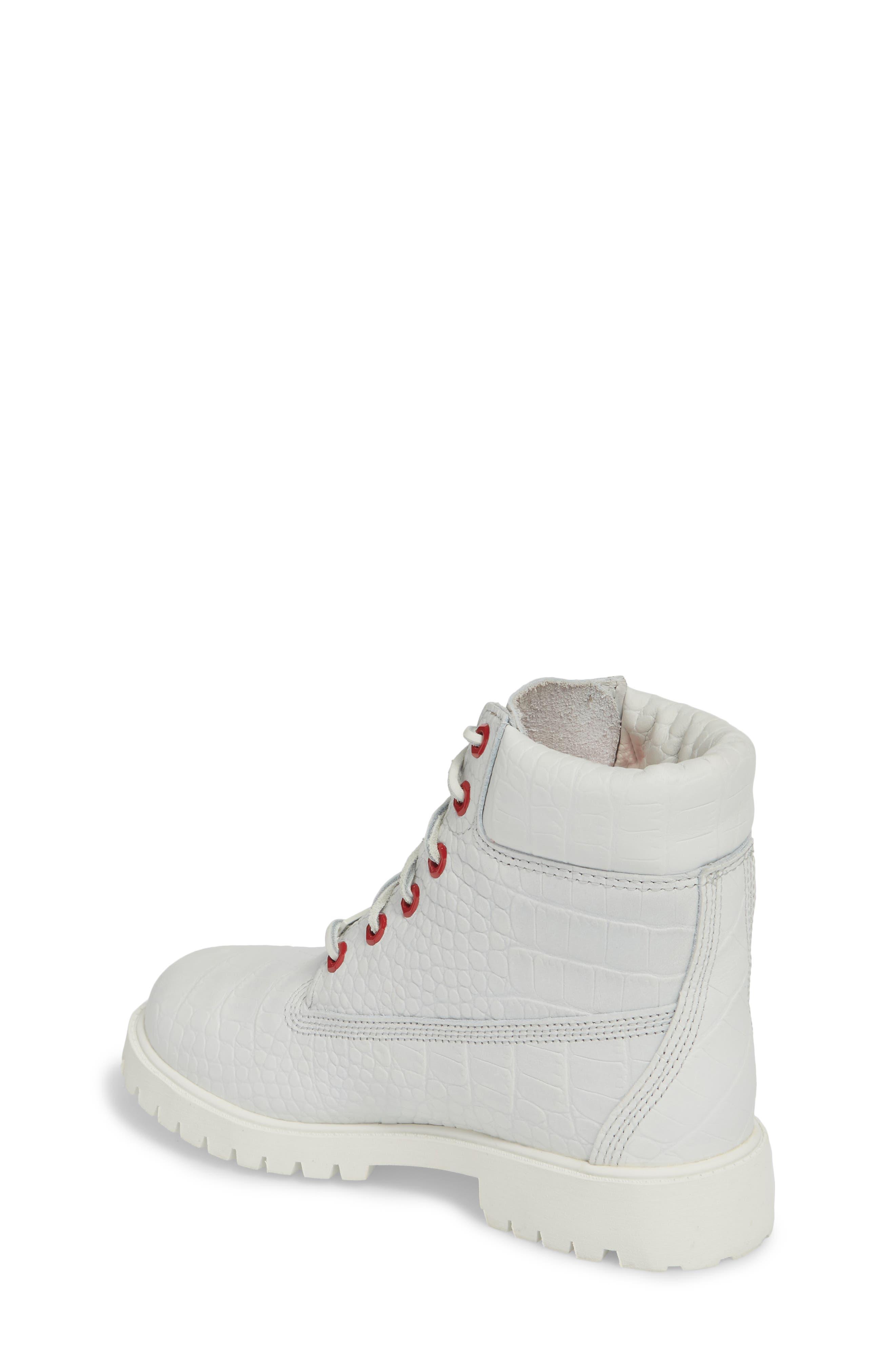 6-Inch Premium Waterproof Boot,                             Alternate thumbnail 2, color,                             White Cardinal Exotic
