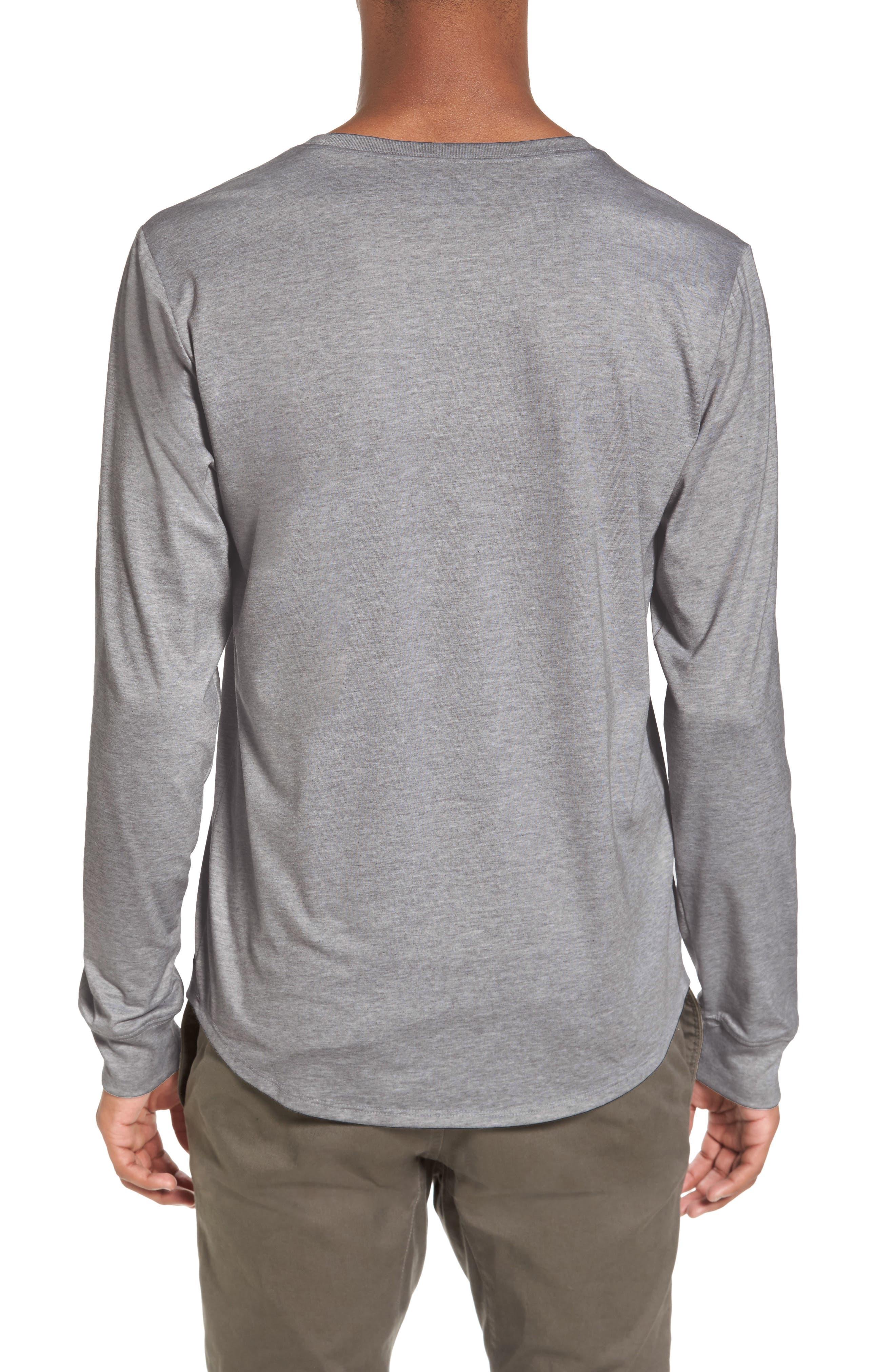 Yantra Long Sleeve T-Shirt,                             Alternate thumbnail 6, color,                             Heather Grey/ Heather Grey