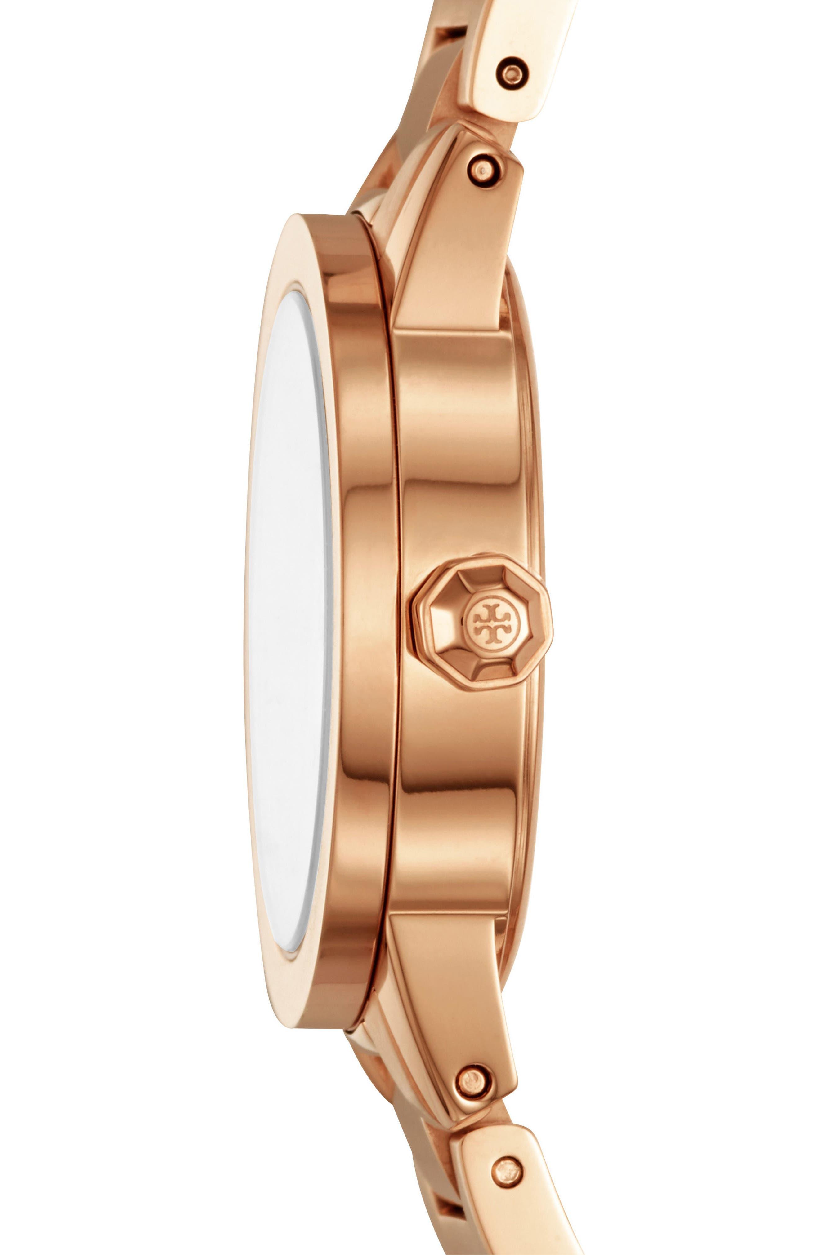 Gigi Bracelet Watch, 28mm,                             Alternate thumbnail 2, color,                             Rose Gold/ Cream/ Rose Gold