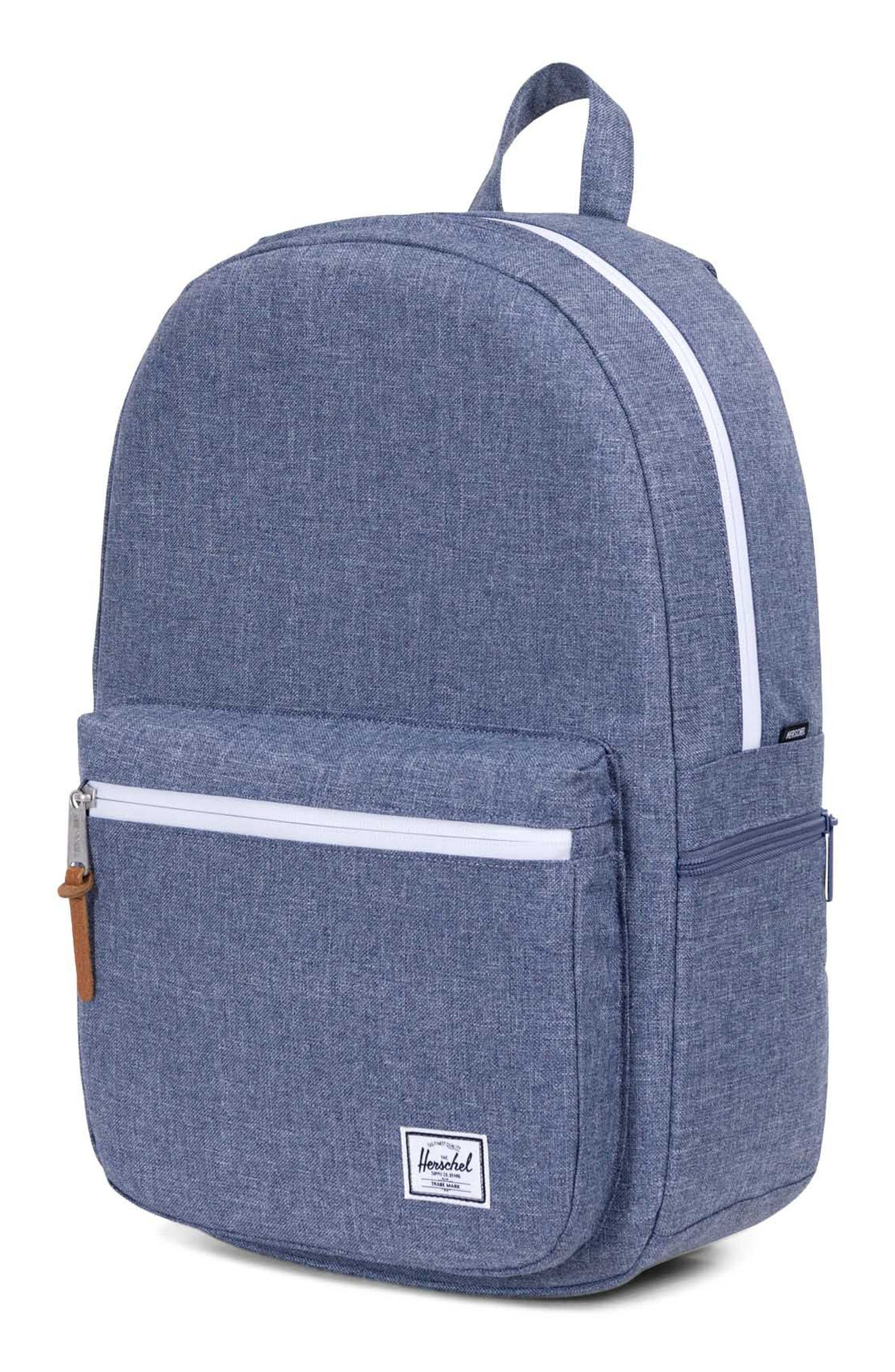 Harrison Backpack,                             Alternate thumbnail 4, color,                             Dark Chambray Crosshatch