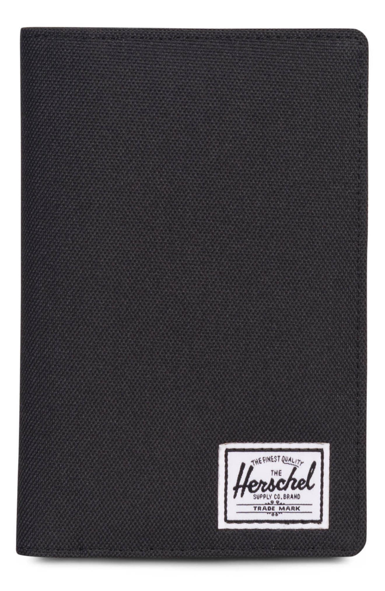 Search Passport Holder,                             Main thumbnail 1, color,                             Black