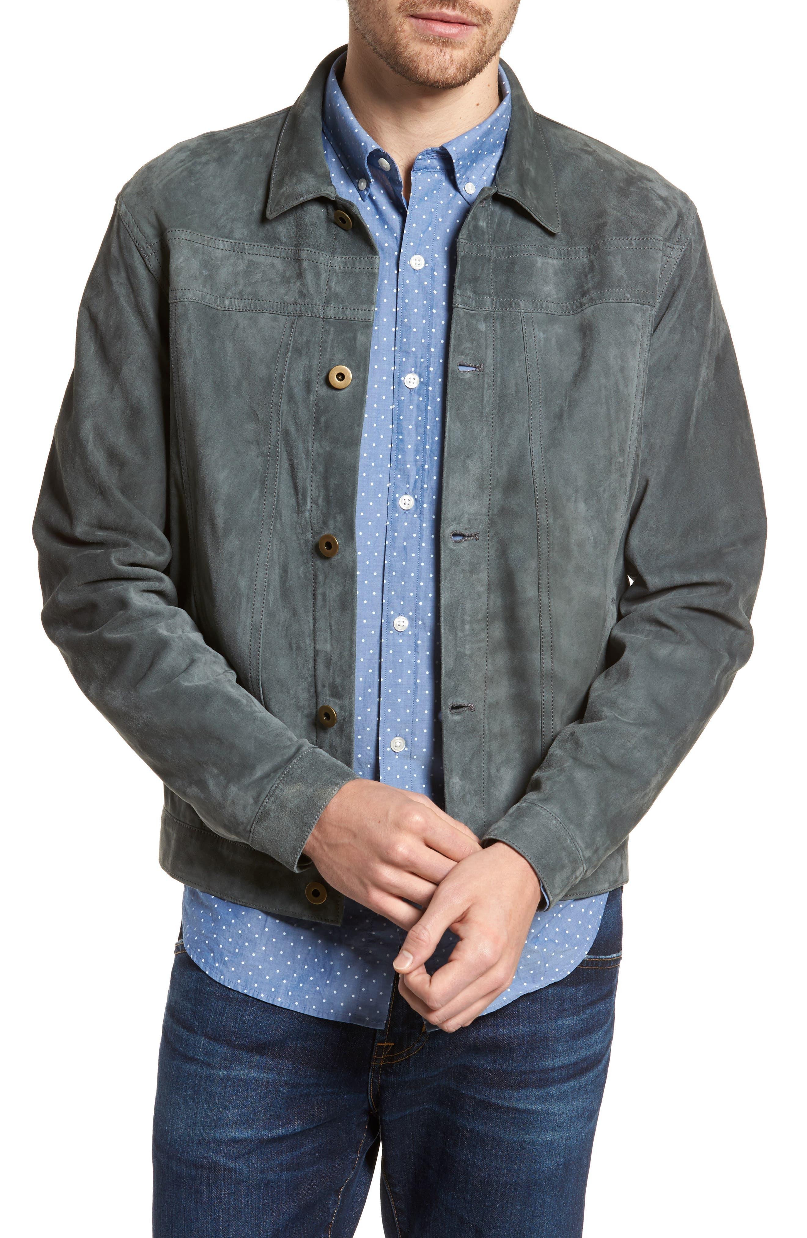 Cullen Suede Jacket,                         Main,                         color, Aspha